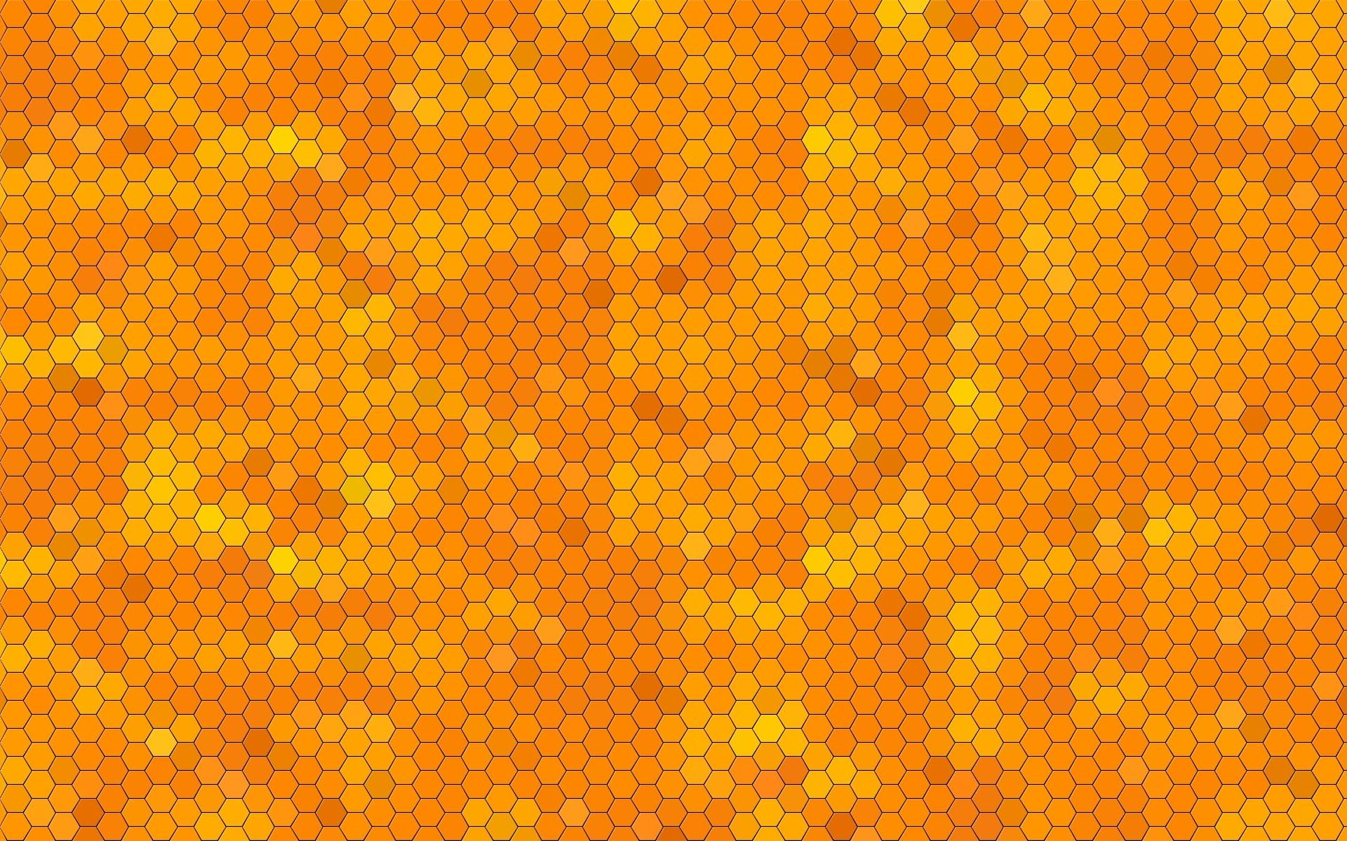 General 1920x1200 honeypad texture orange yellow hexagon beehive patterns digital art