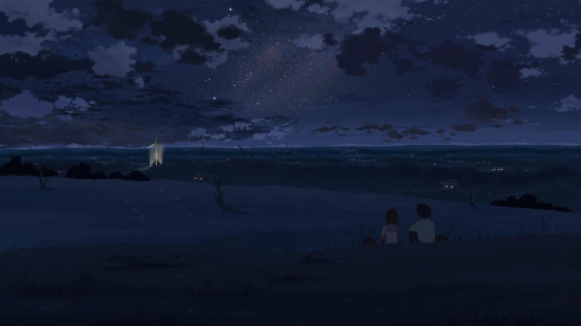 Anime 1920x1080 5 Centimeters Per Second sky anime night stars