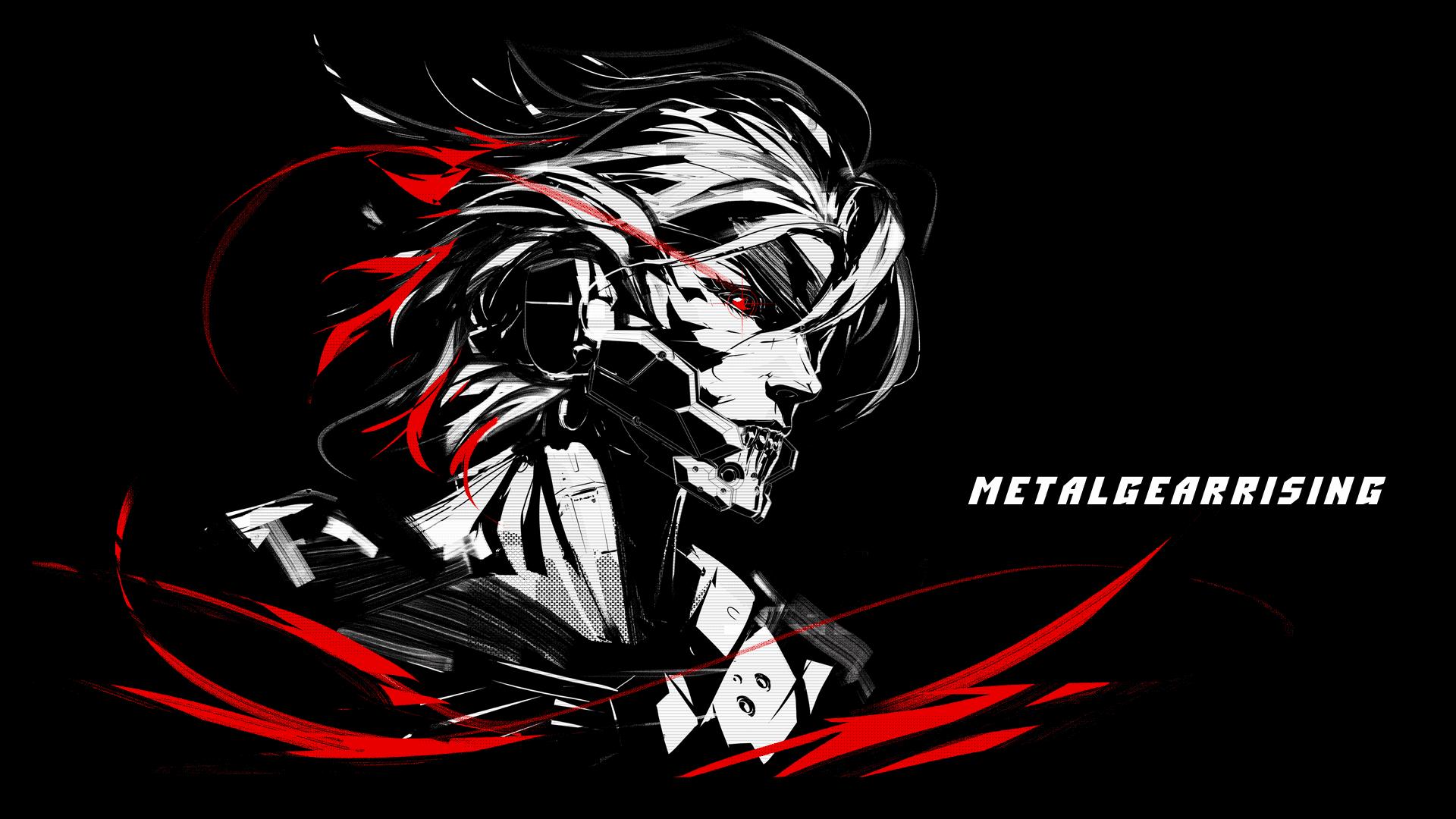 General 1920x1080 Raiden Metal Gear Rising: Revengeance video games video game art simple background black background