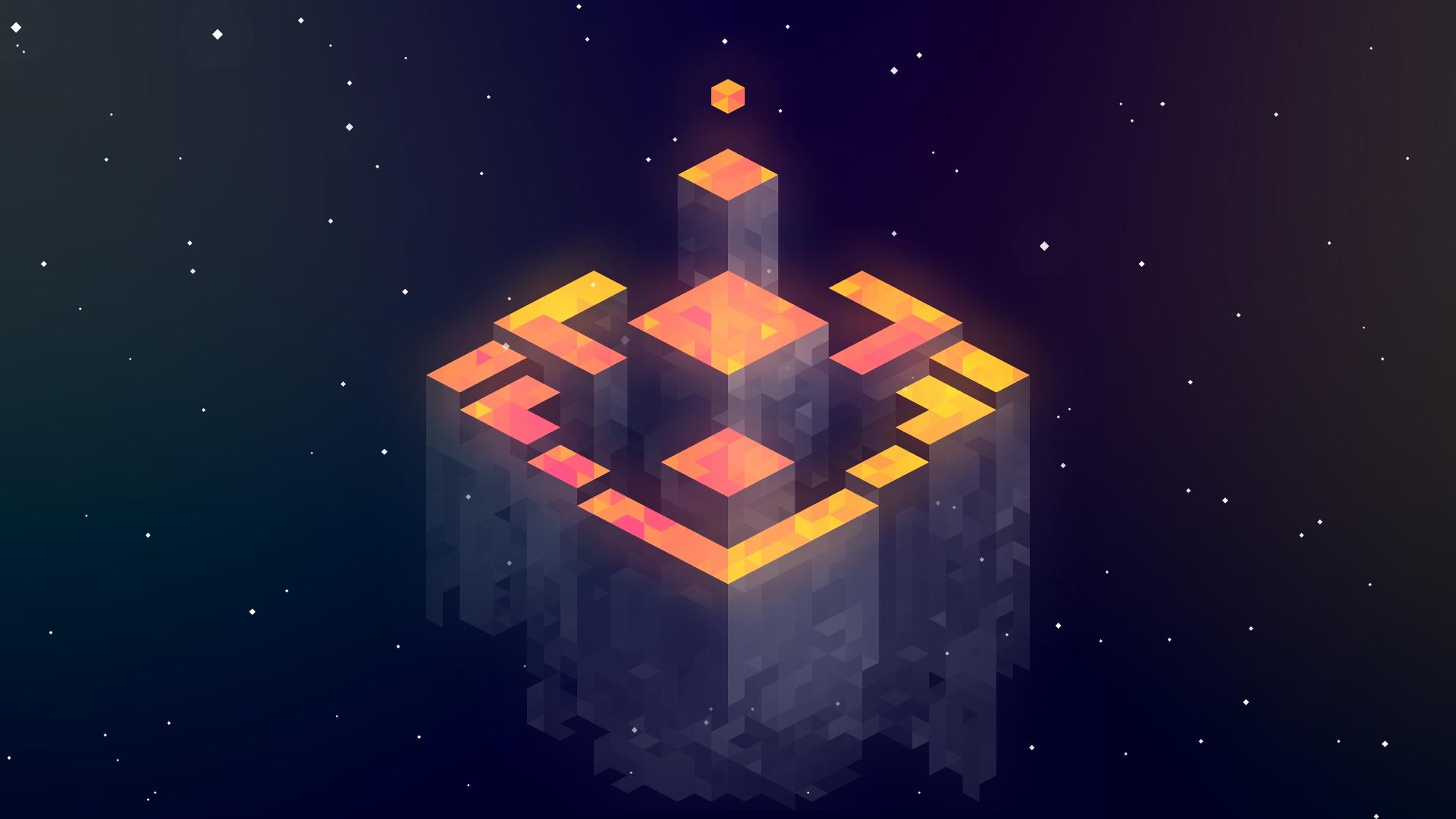 General 1920x1080 isometric minimalism Fez  abstract artwork digital art video games video game art