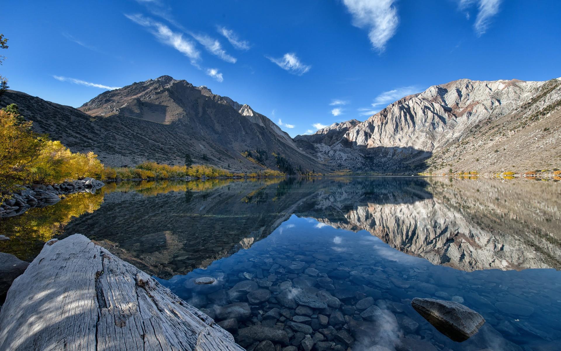 General 1920x1200 landscape nature lake reflection mountains Sierra Nevada California
