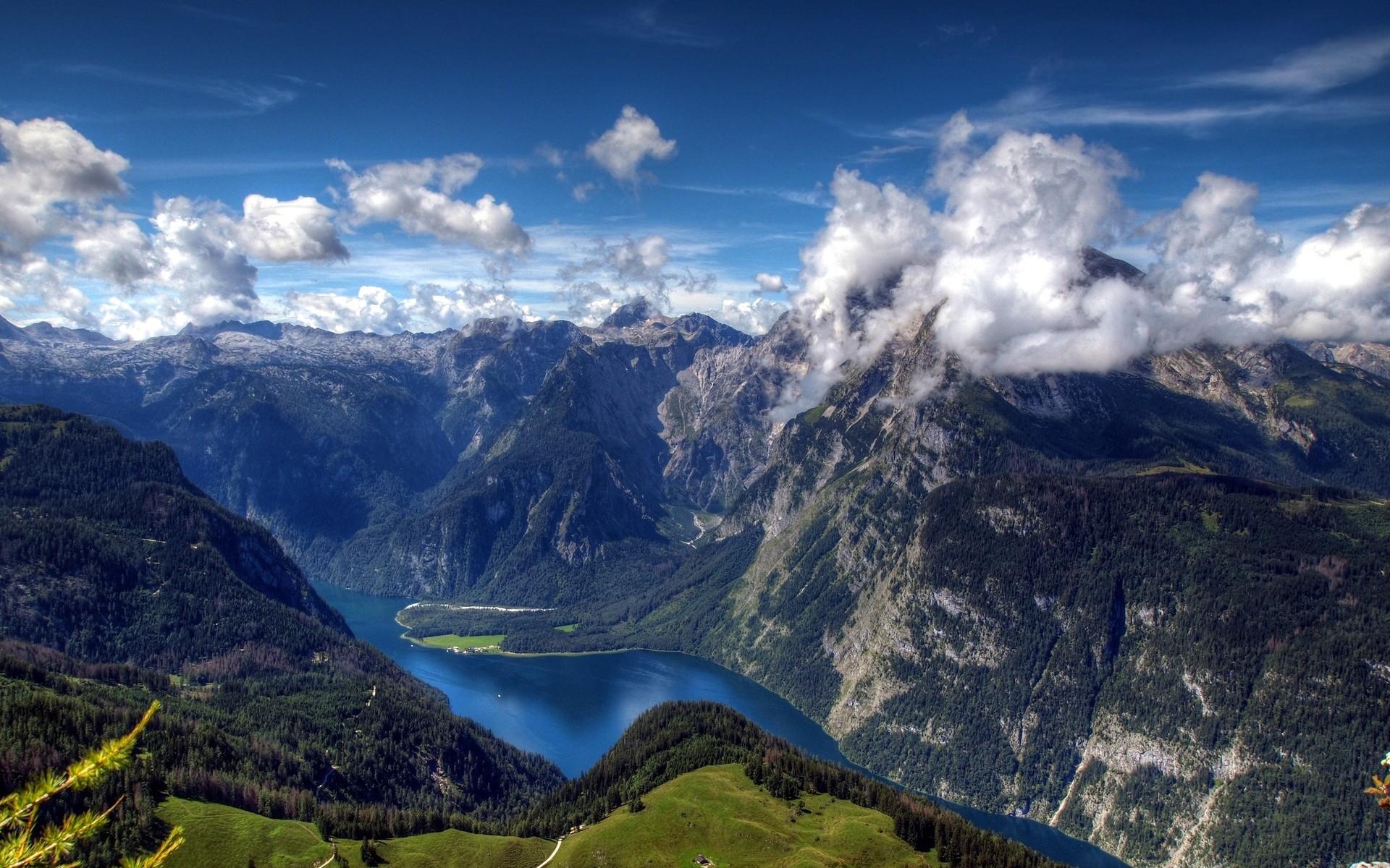 General 1920x1200 nature landscape mountains aerial view Alps Berchtesgaden National Park