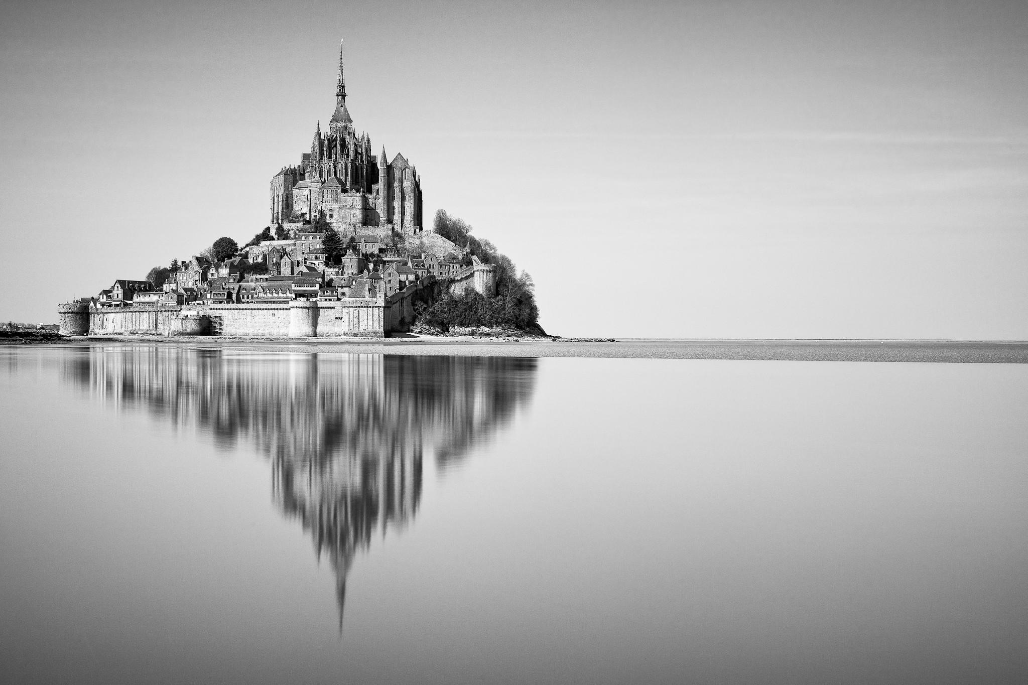 General 2048x1365 Mont Saint-Michel France monochrome Abbey island fort