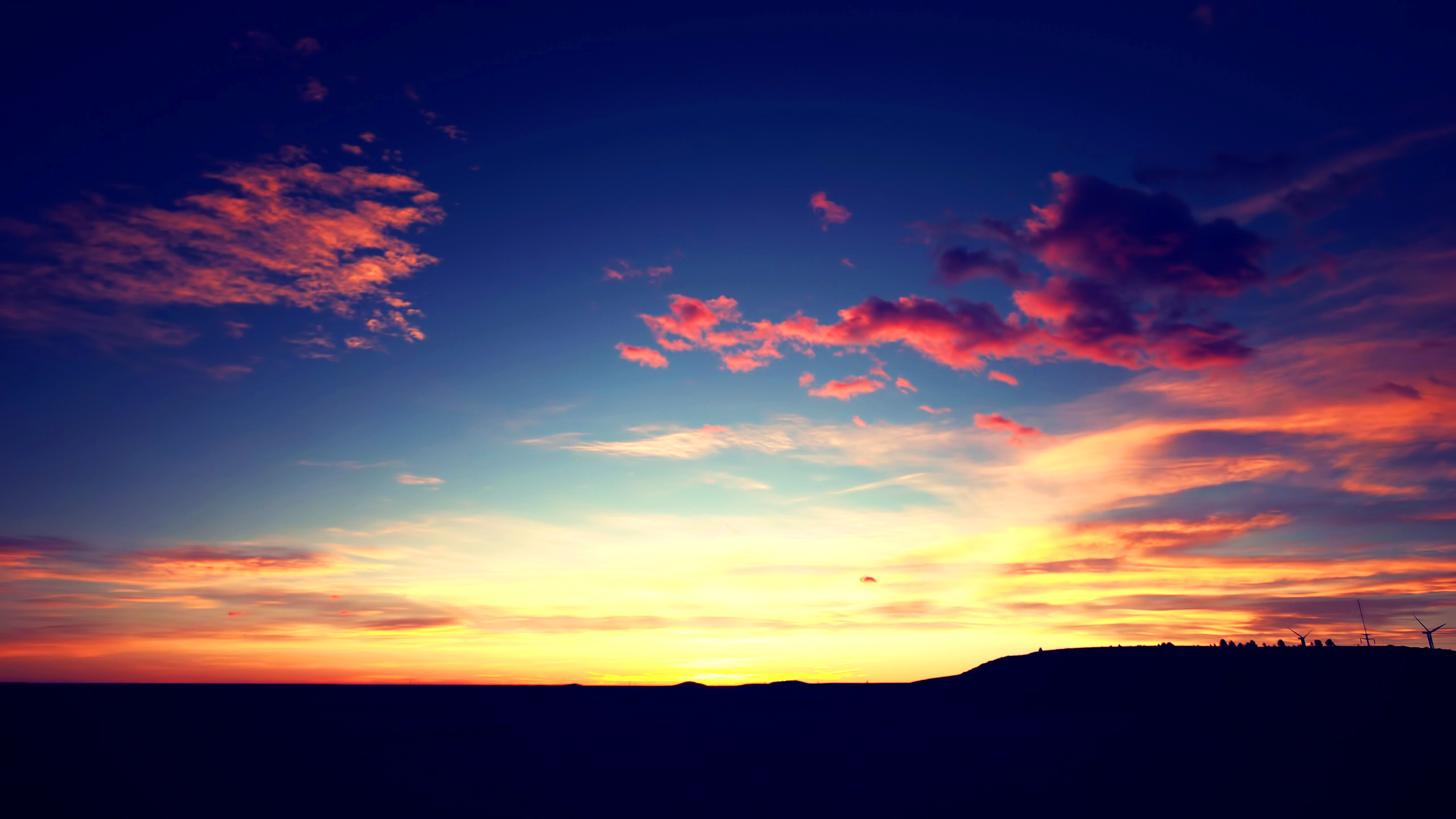 General 2560x1440 sunset clouds horizon landscape nature sunlight sky