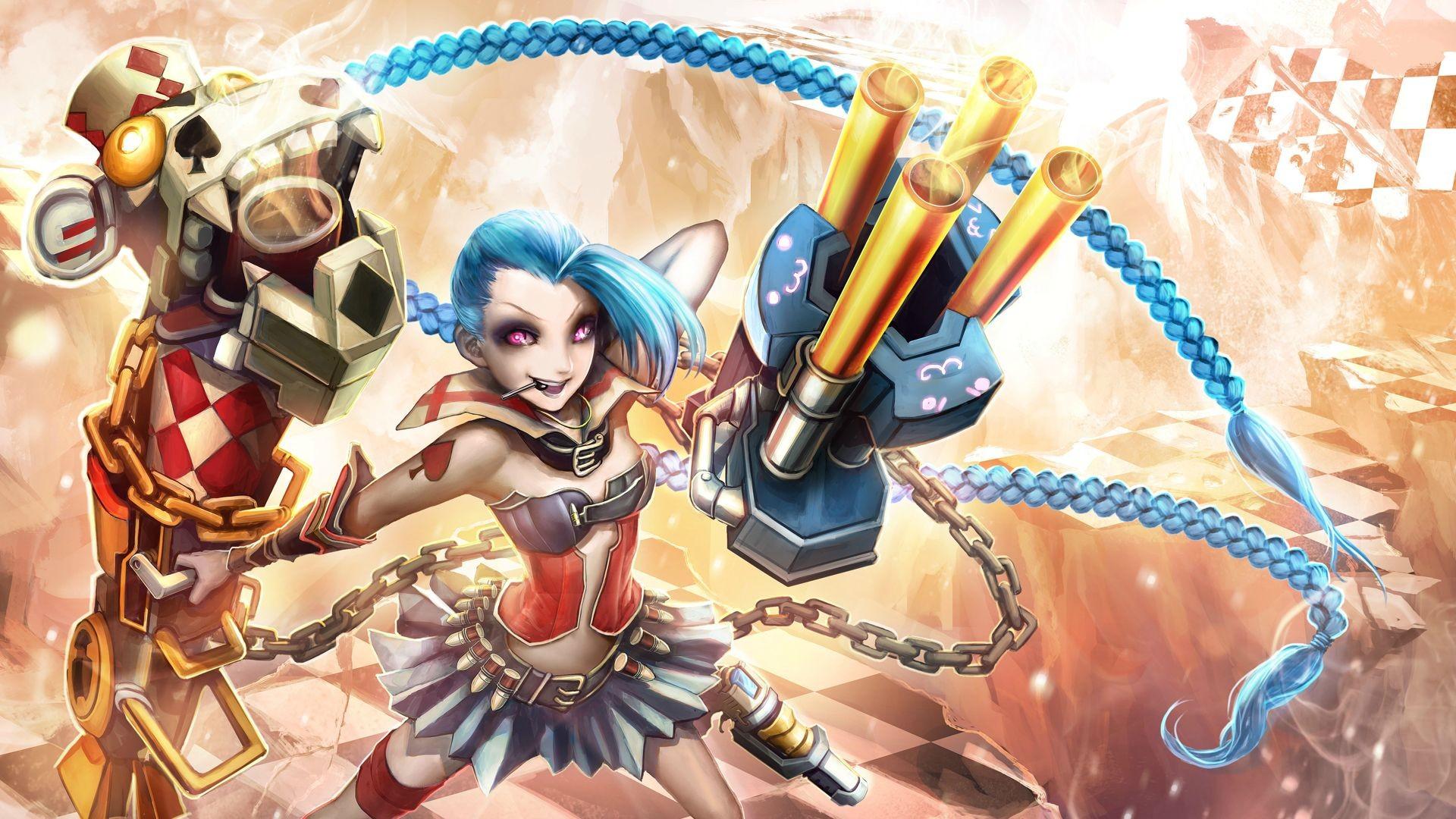 Anime 1920x1080 Jinx (League of Legends) League of Legends PC gaming