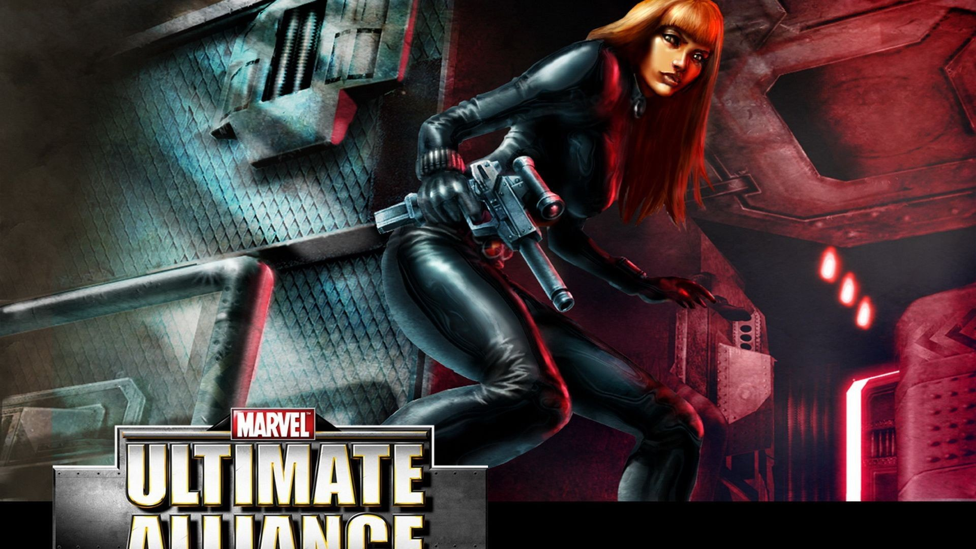General 1920x1080 Black Widow Ultimate Alliance redhead Marvel Comics gun superheroines girls with guns