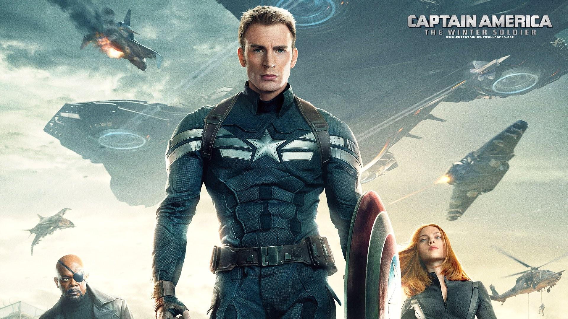 General 1920x1080 Captain America: The Winter Soldier Samuel L. Jackson Chris Evans Scarlett Johansson Nick Fury Captain America Black Widow