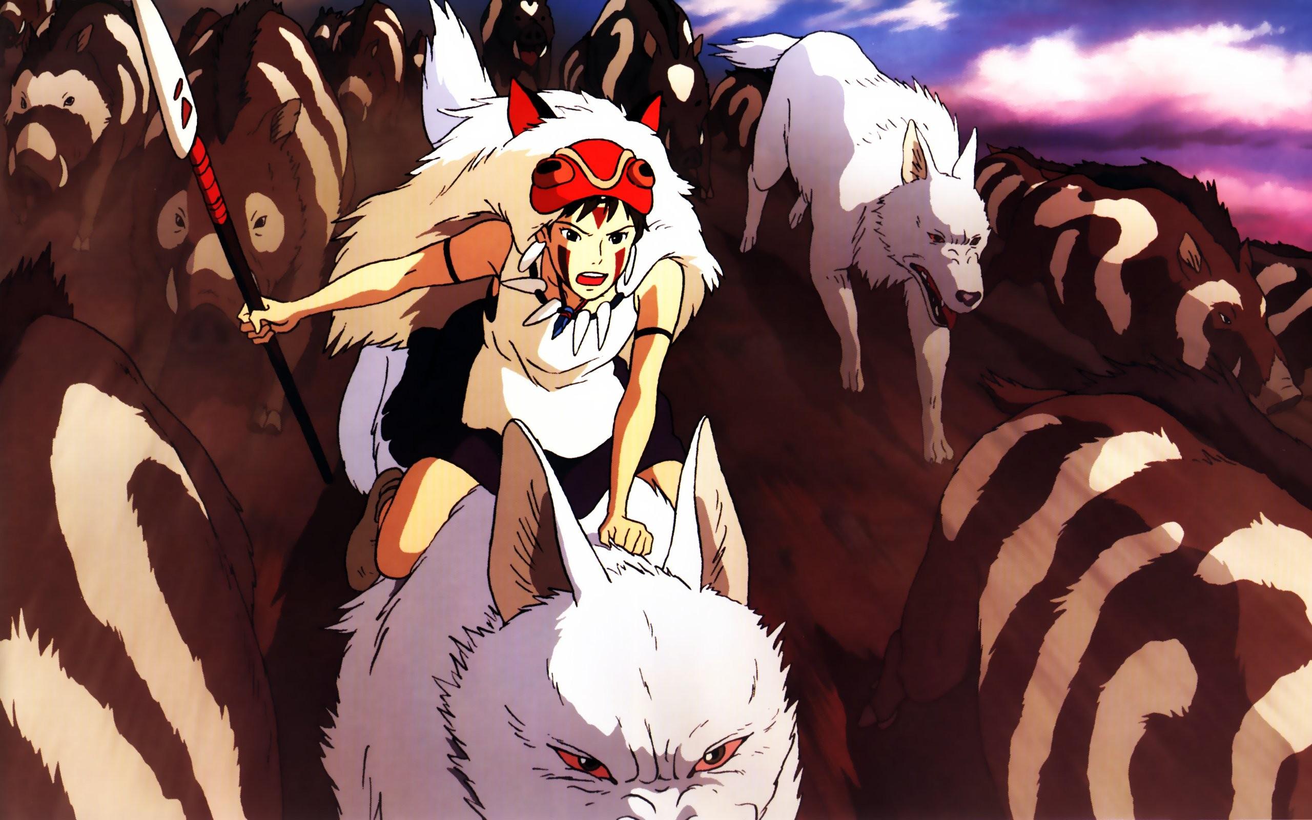 Anime 2560x1600 Studio Ghibli Princess Mononoke anime anime girls fantasy girl fantasy art spear