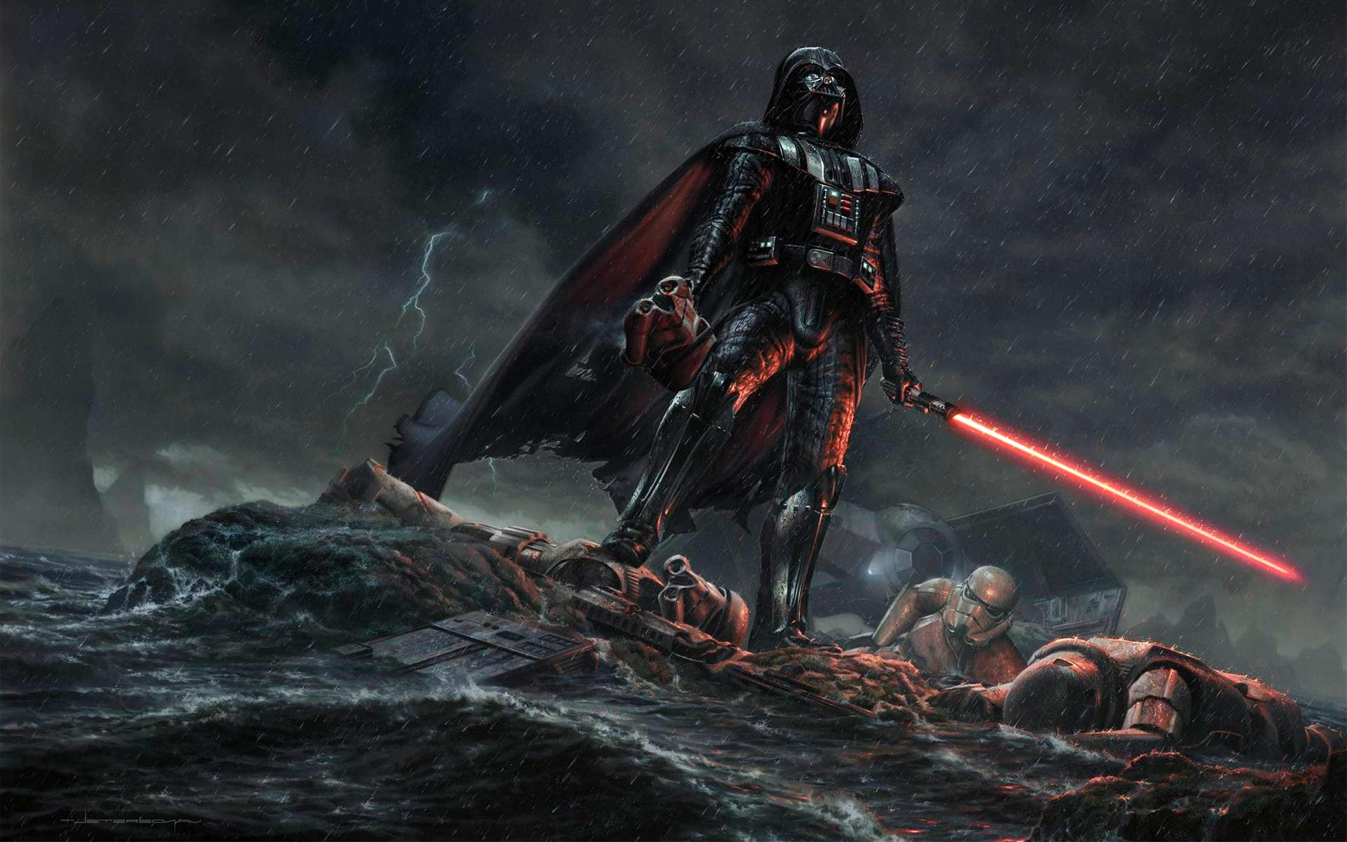 General 1920x1200 Star Wars Darth Vader Storm Troopers TIE Advanced