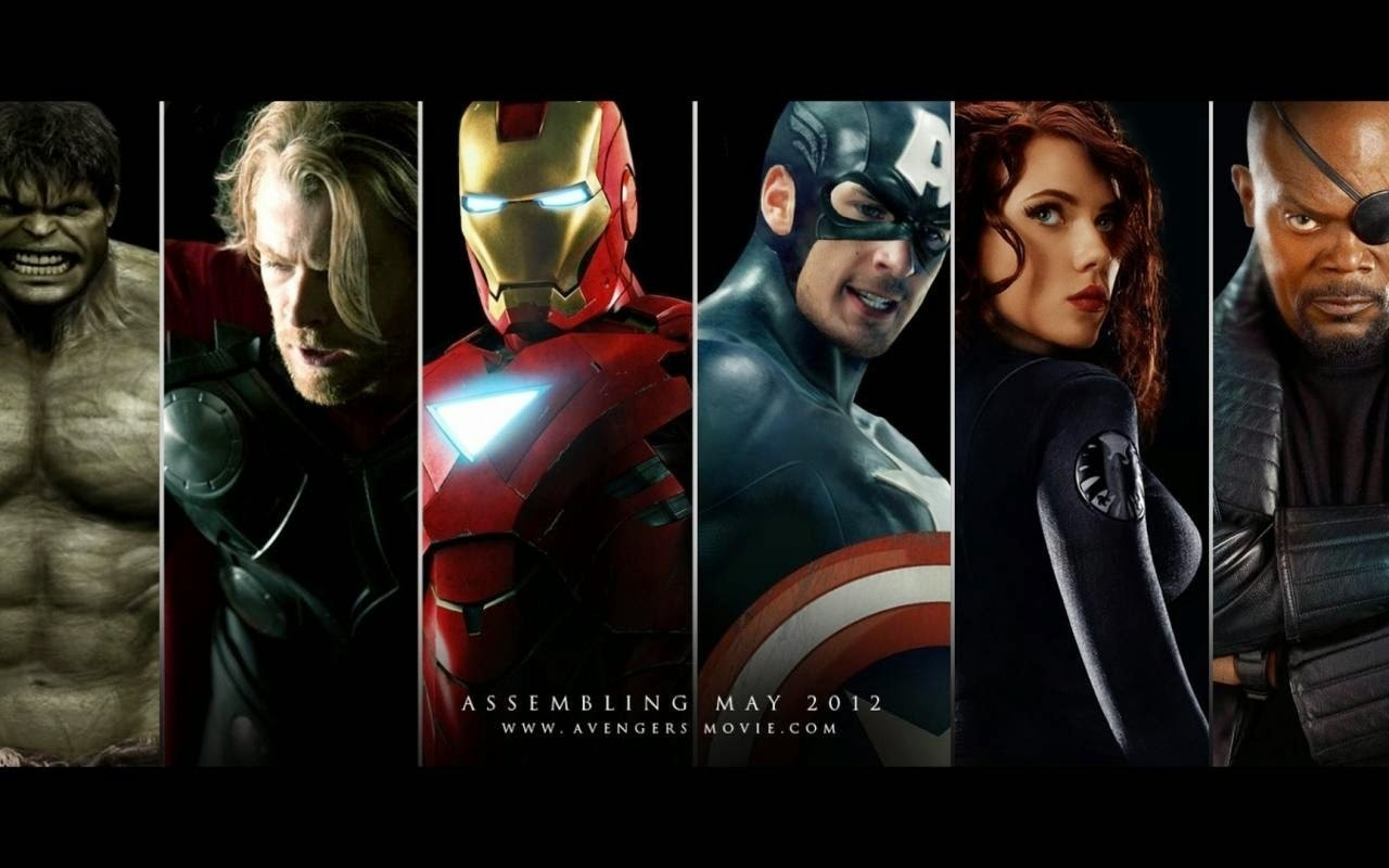 General 1280x800 Hulk Iron Man Thor Captain America Black Widow Nick Fury The Avengers Scarlett Johansson