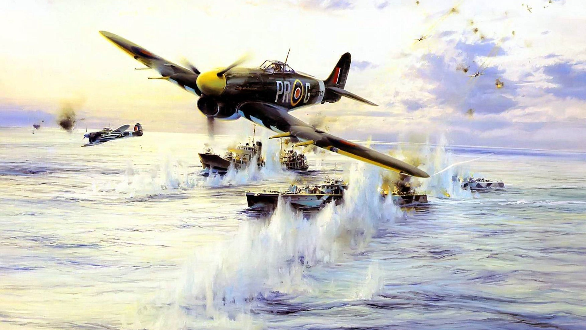 General 1920x1080 World War II airplane aircraft Hawker Typhoon military military aircraft D-Day