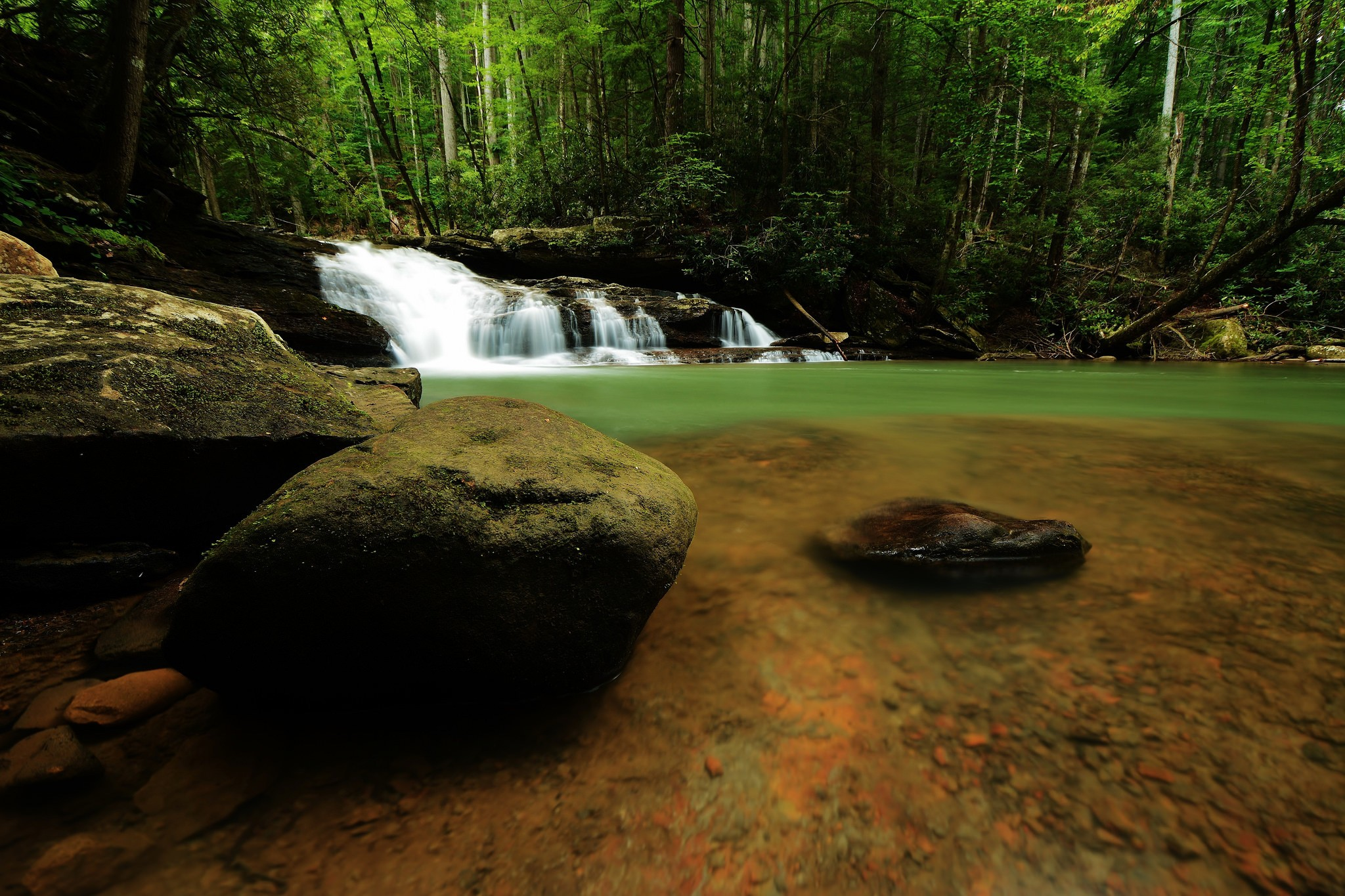 General 2048x1365 waterfall river forest rocks nature