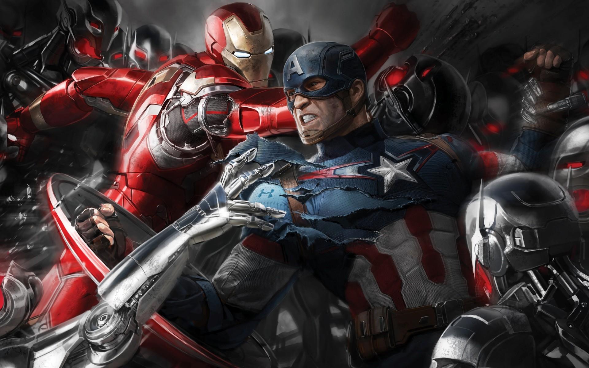 General 1920x1200 Iron Man Captain America The Avengers Avengers: Age of Ultron Marvel Comics comics