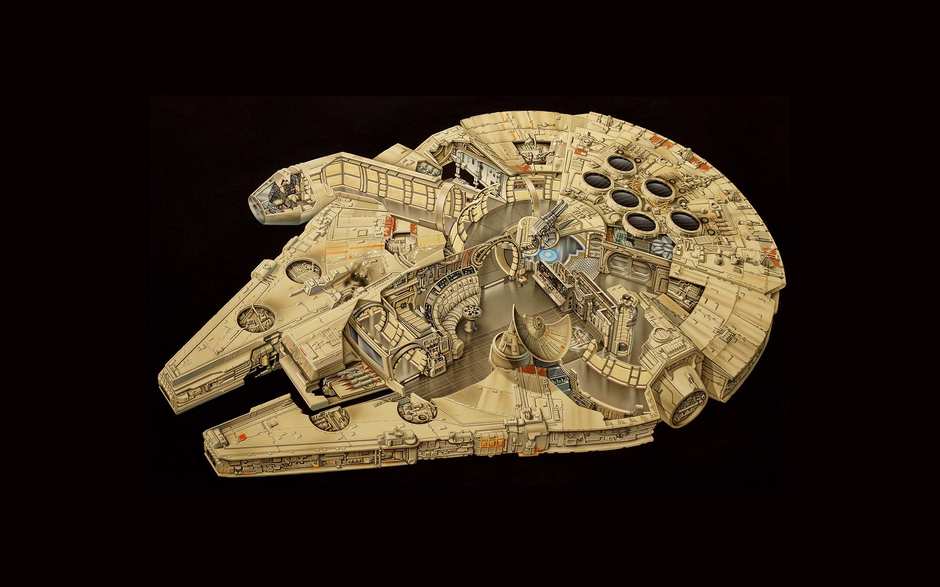 General 1920x1200 Millennium Falcon Star Wars artwork
