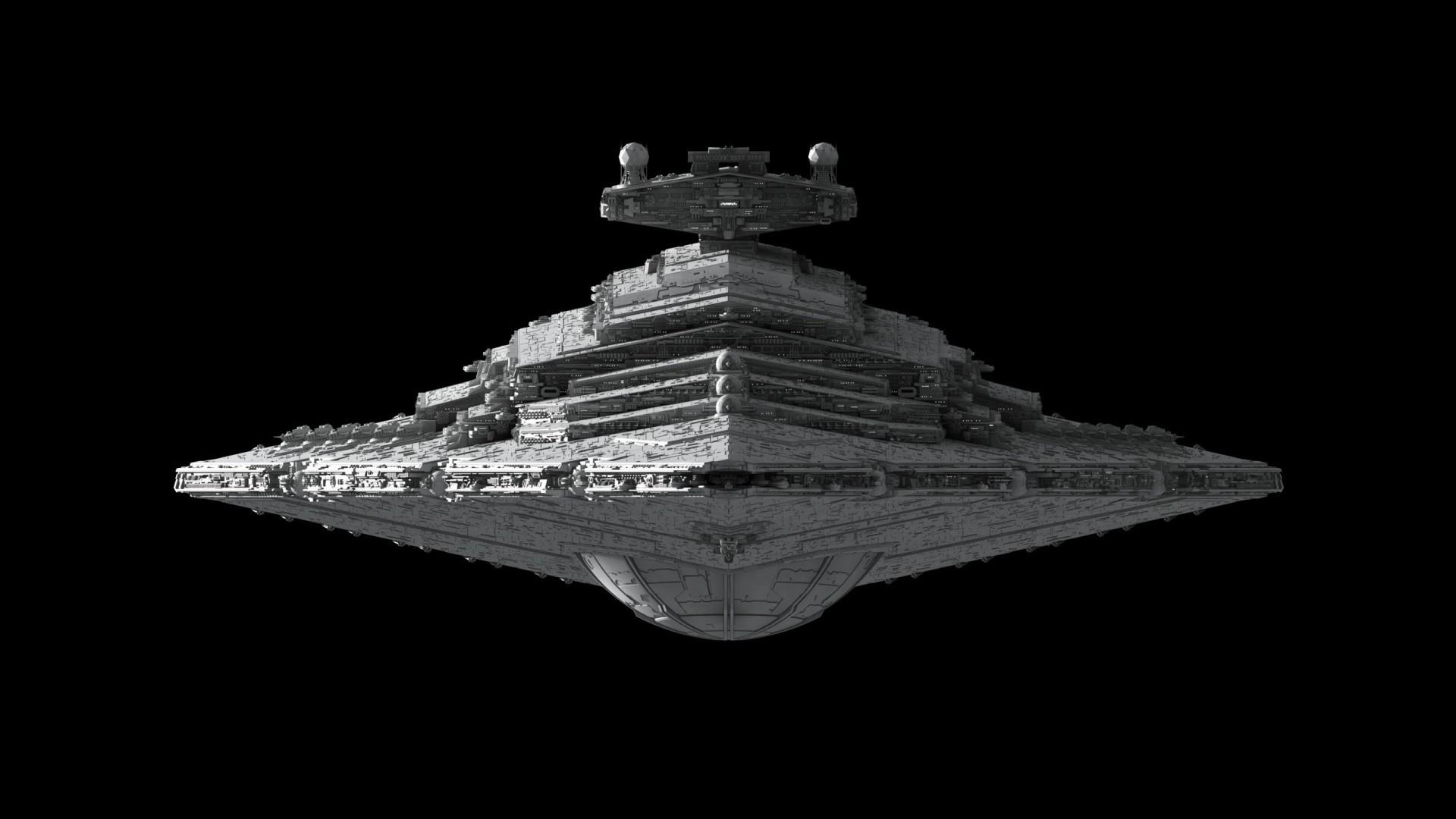 General 1920x1080 Star Wars Imperial Forces render spaceship vehicle Star Wars Ships Star Destroyer fractalsponge