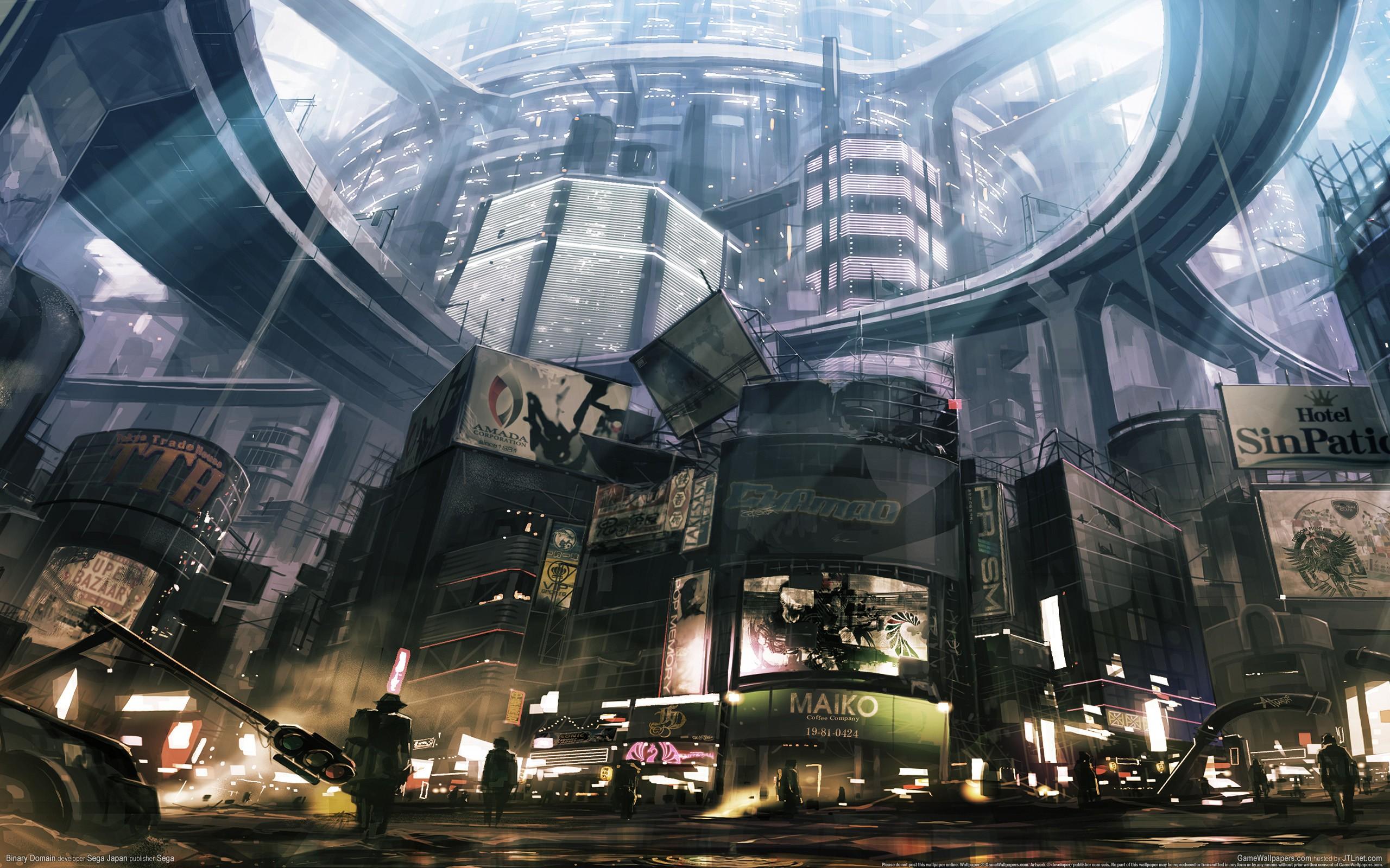 General 2560x1600 cyberpunk futuristic artwork cityscape futuristic city science fiction