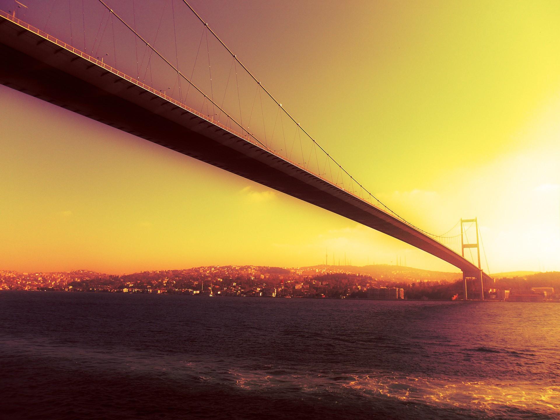 General 1920x1440 Istanbul Bosphorus bridge sunset