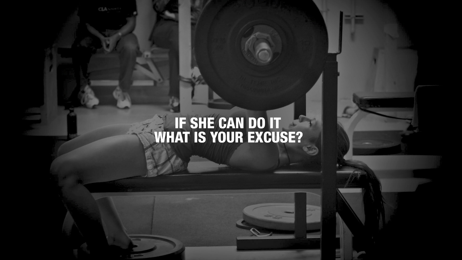 General 1920x1080 exercise quote women gyms ponytail weightlifting