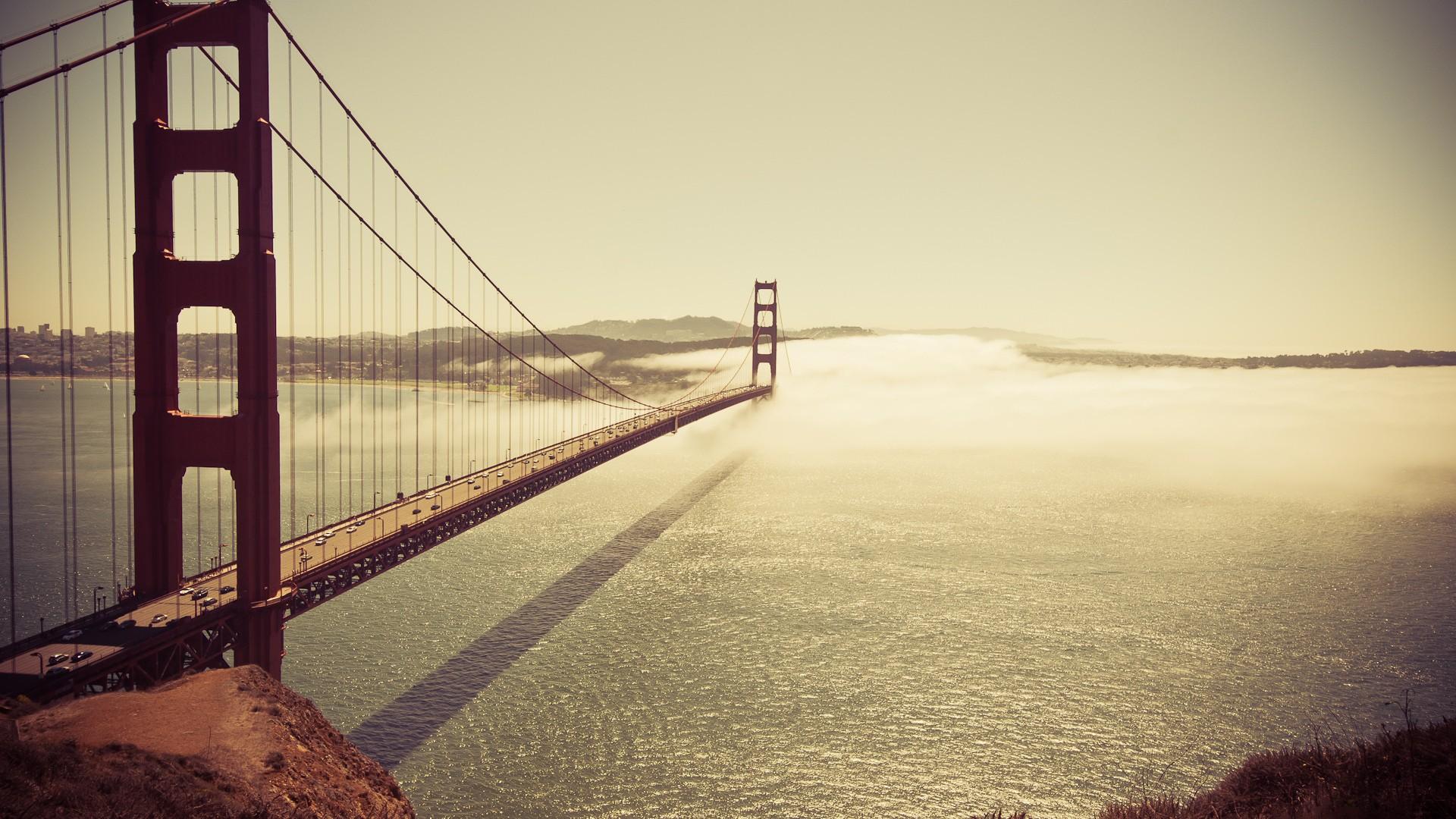 General 1920x1080 bridge San Francisco Golden Gate Bridge USA sea water architecture