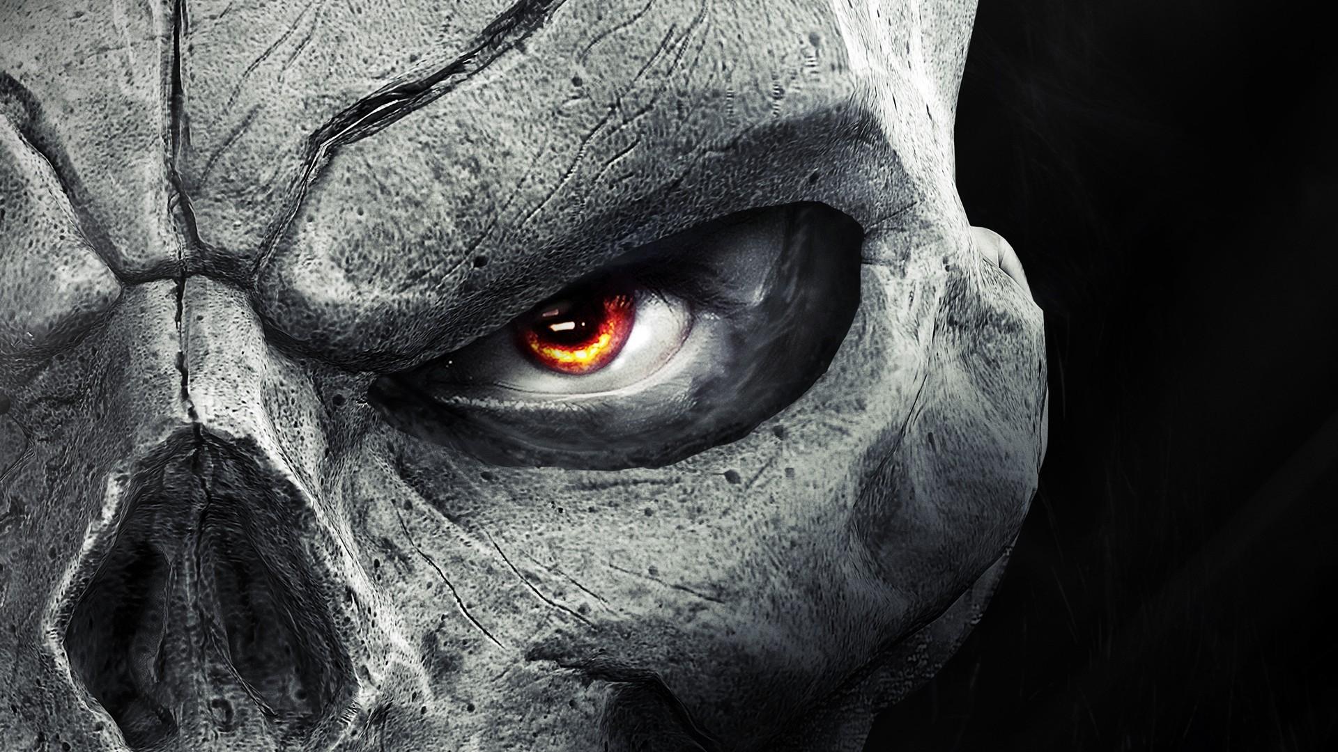 General 1920x1080 Darksiders 2 skull video games frontal view