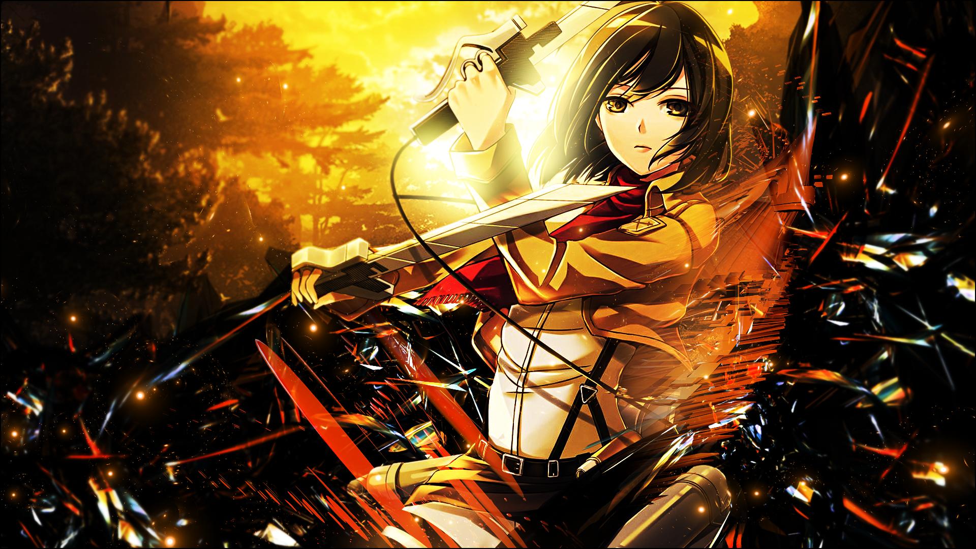 Anime 1920x1080 Shingeki no Kyojin Mikasa Ackerman anime anime girls