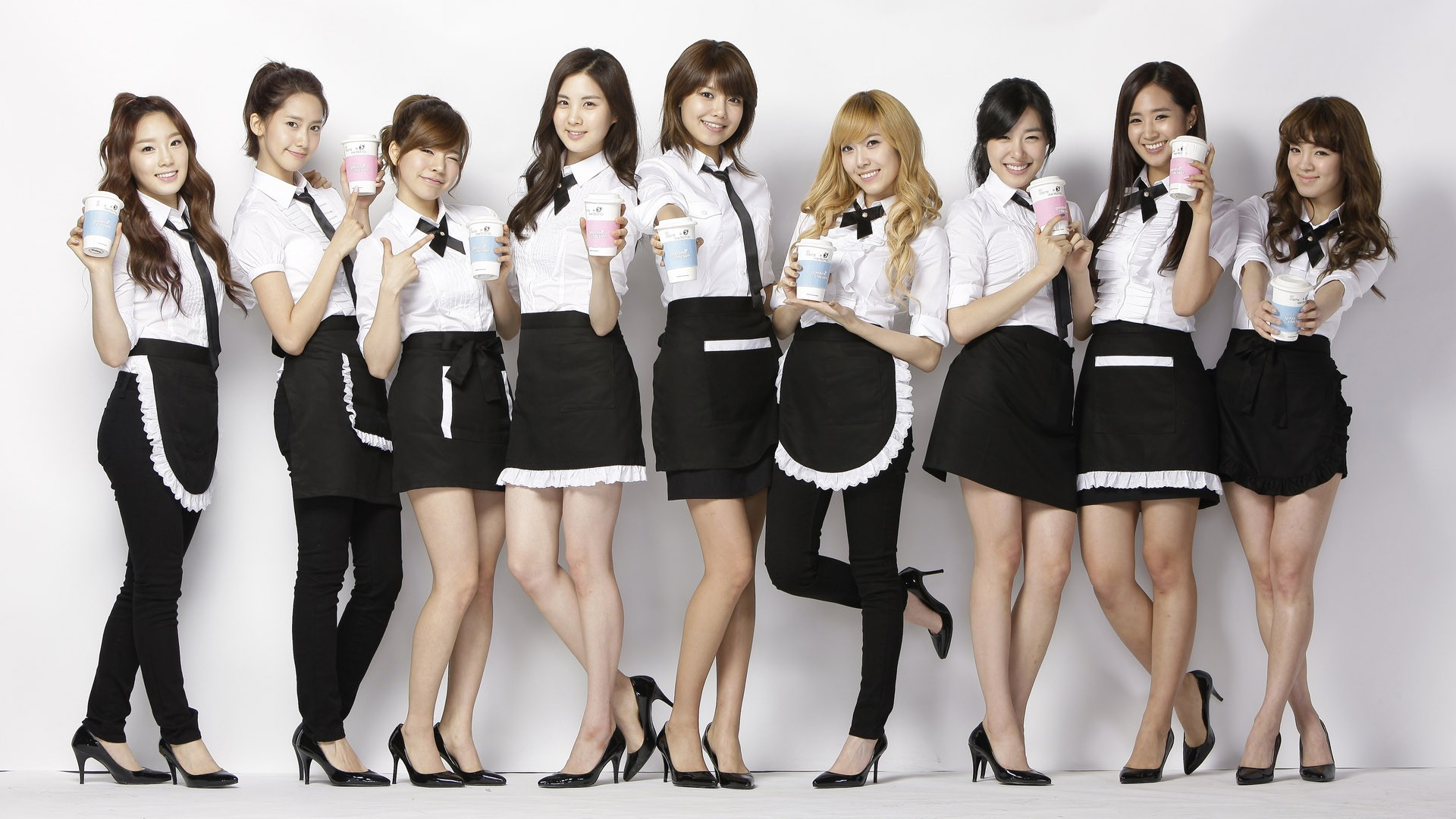 People 1920x1080 SNSD Girls' Generation Kim Taeyeon Lee Soonkyu Sunny Yoona Im Yoona Kim Hyoyeon Seohyun Tiffany Hwang Kwon Yuri Jessica Jung Choi Sooyoung women Asian brunette black hair high heels skirt