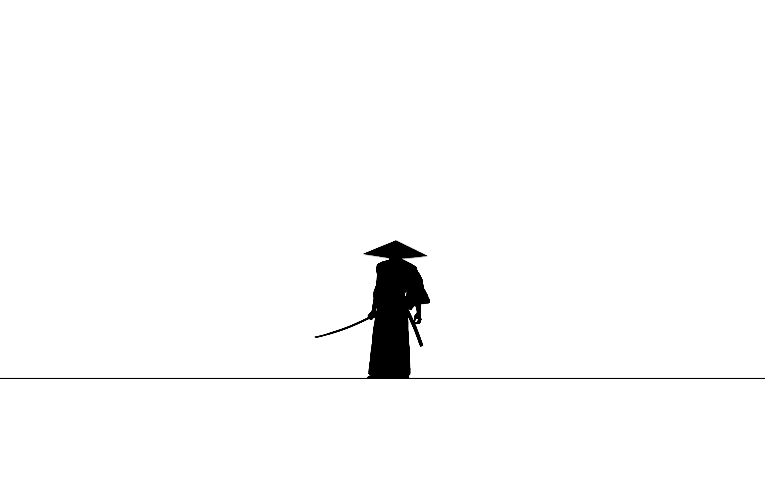 General 2560x1600 samurai minimalism silhouette simple background katana Samurai Jack