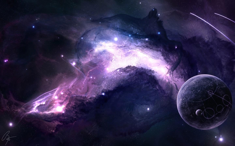 General 1440x900 nebula science fiction space JoeyJazz planet shooting stars digital art fantasy art space art universe DeviantArt