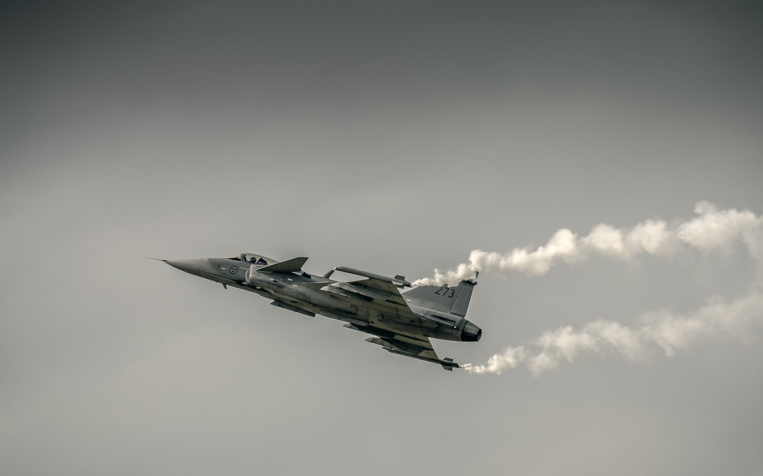 General 2560x1600 photography airplane aircraft military aircraft JAS-39 Gripen Swedish Air Force