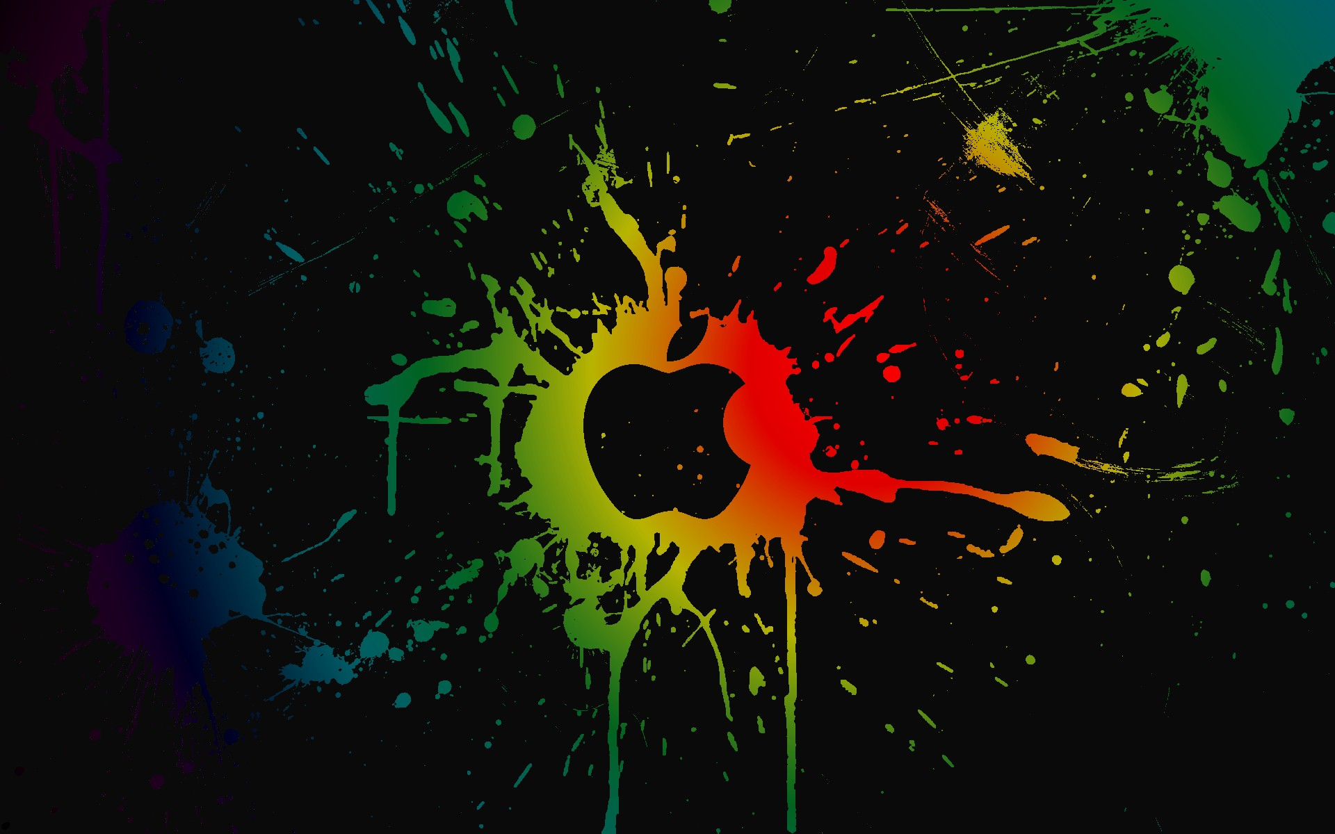 General 1920x1200 Apple Inc. colorful paint splatter