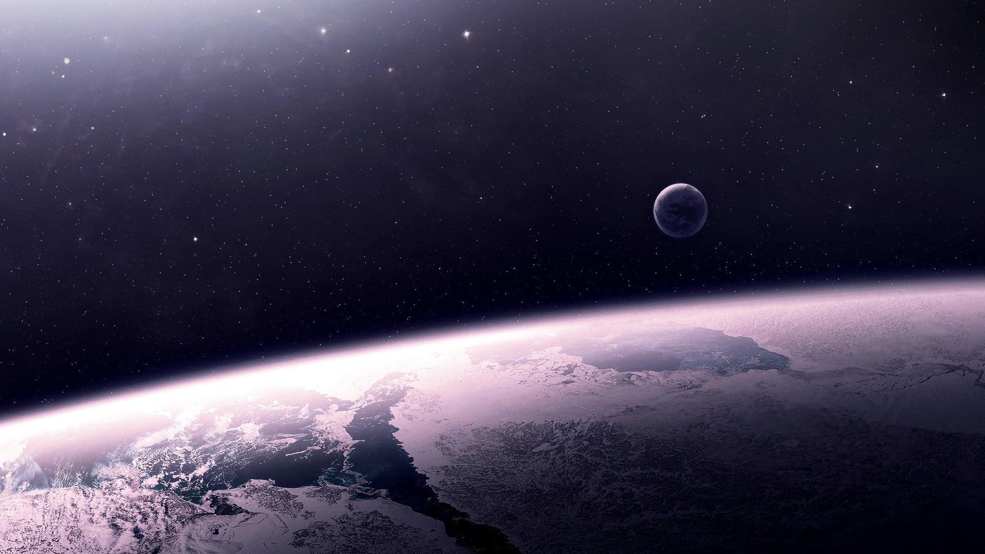 General 1920x1080 space art space planet digital art atmosphere stars artwork ice