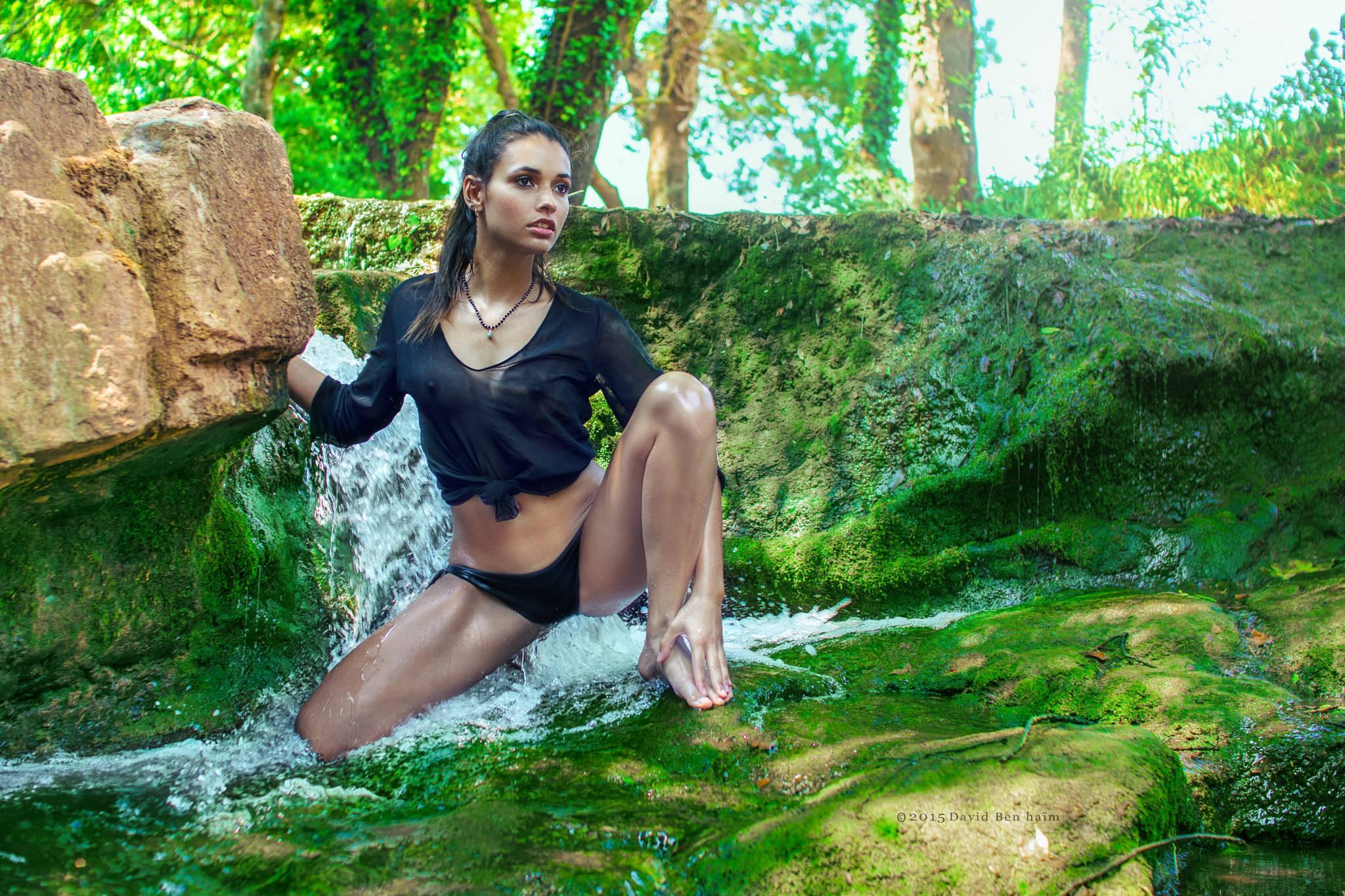 People 2048x1365 women model bikini see-through clothing nipples wet clothing wet body women outdoors nipples through clothing brunette
