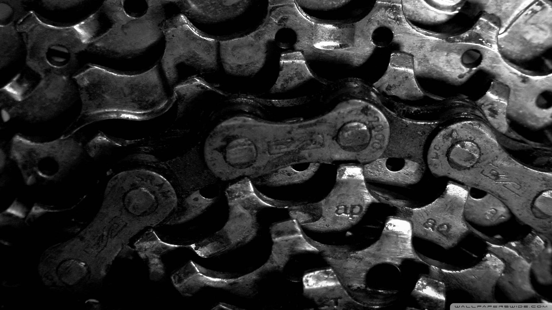 General 1920x1080 monochrome black background chains bicycle bicycle chain closeup macro gears machine dirt