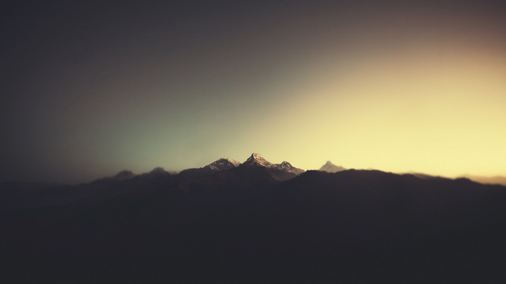 General 1920x1080 nature minimalism mountains sunlight landscape silhouette annapurna Himalayas beige
