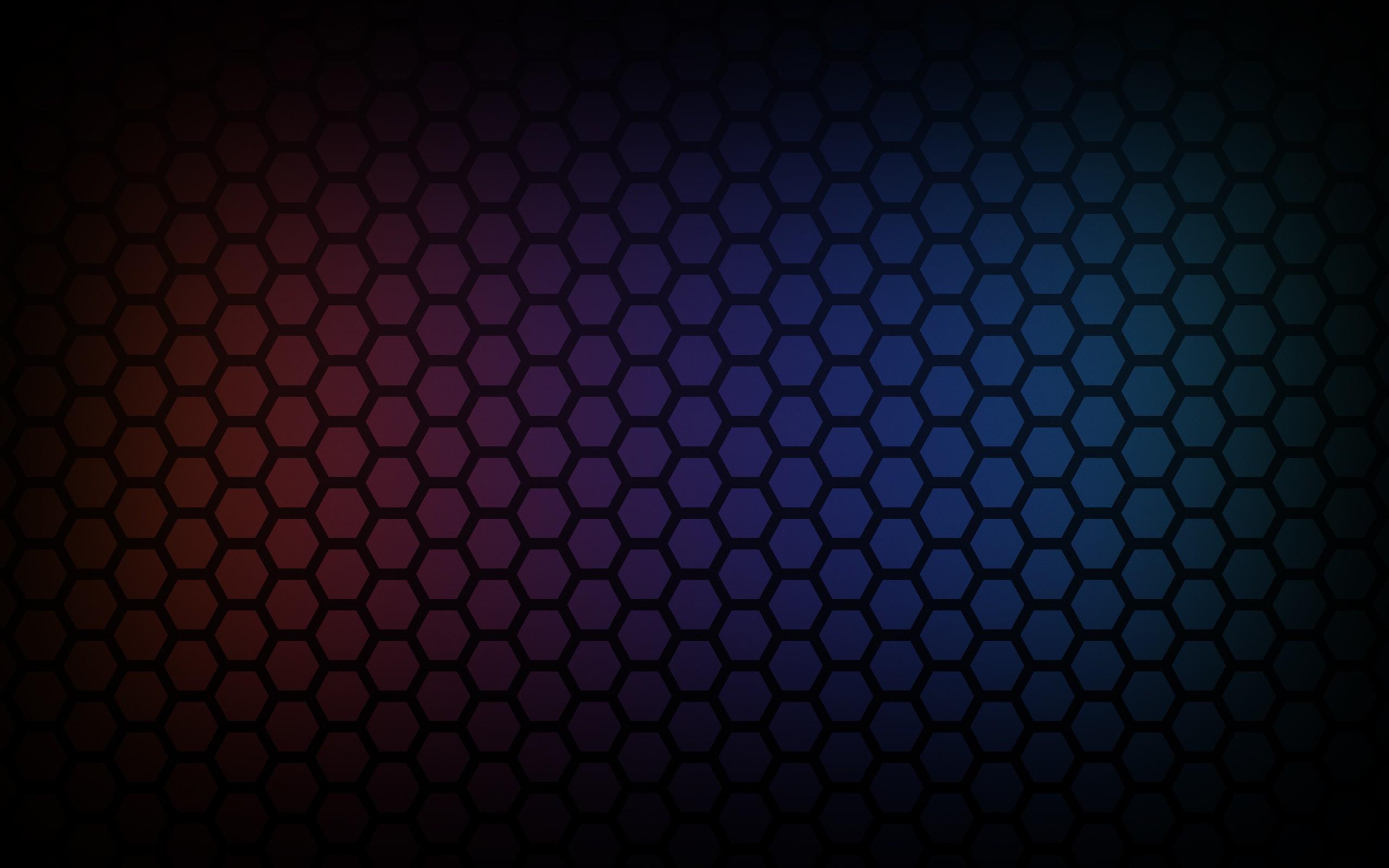 General 2560x1600 hexagon colorful pattern gradient honeycombs abstract textured texture digital art