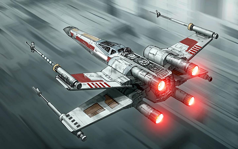 General 1440x900 Star Wars X-wing concept art Star Wars Ships vehicle artwork