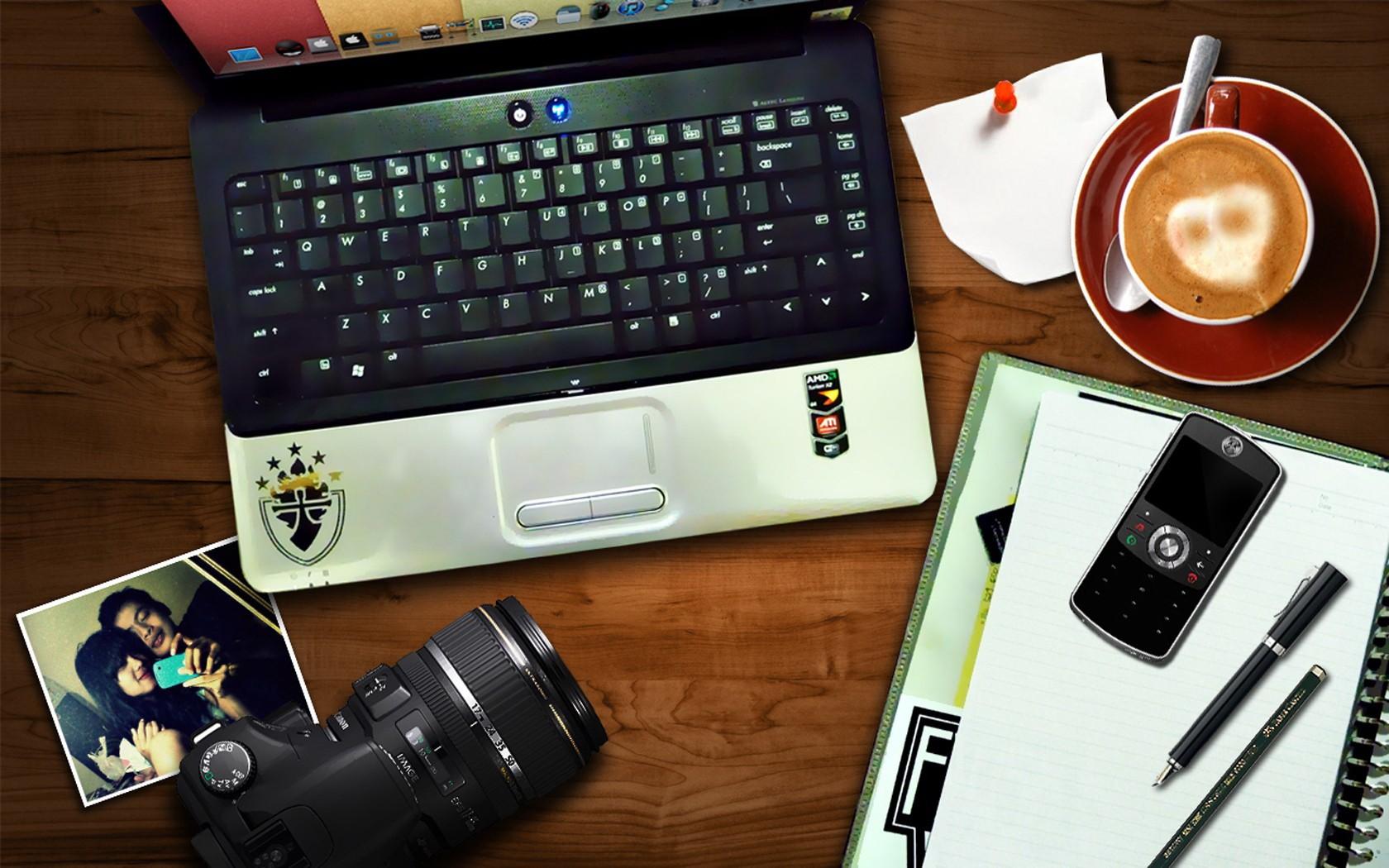 General 1680x1050 laptop phone cellphone camera coffee technology