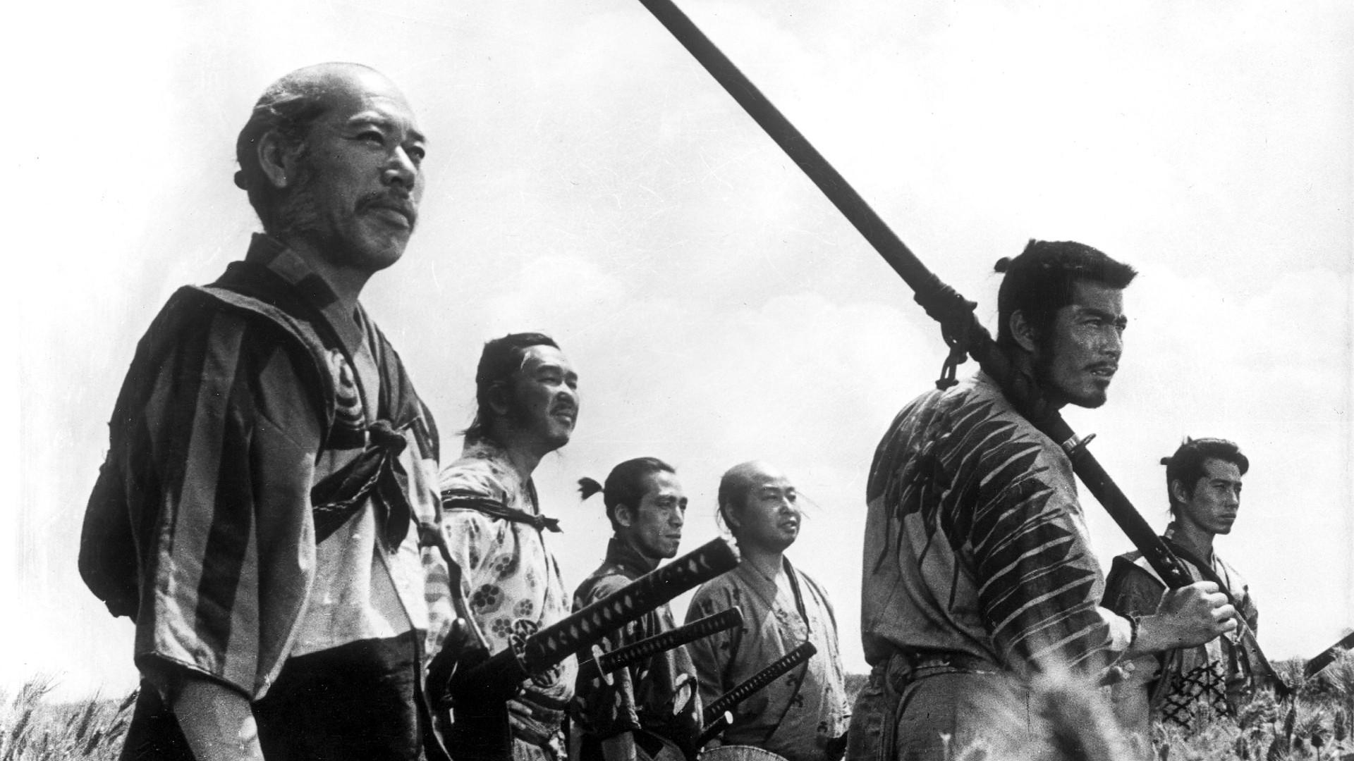 General 1920x1080 movies Akira Kurosawa monochrome movie scenes samurai film stills