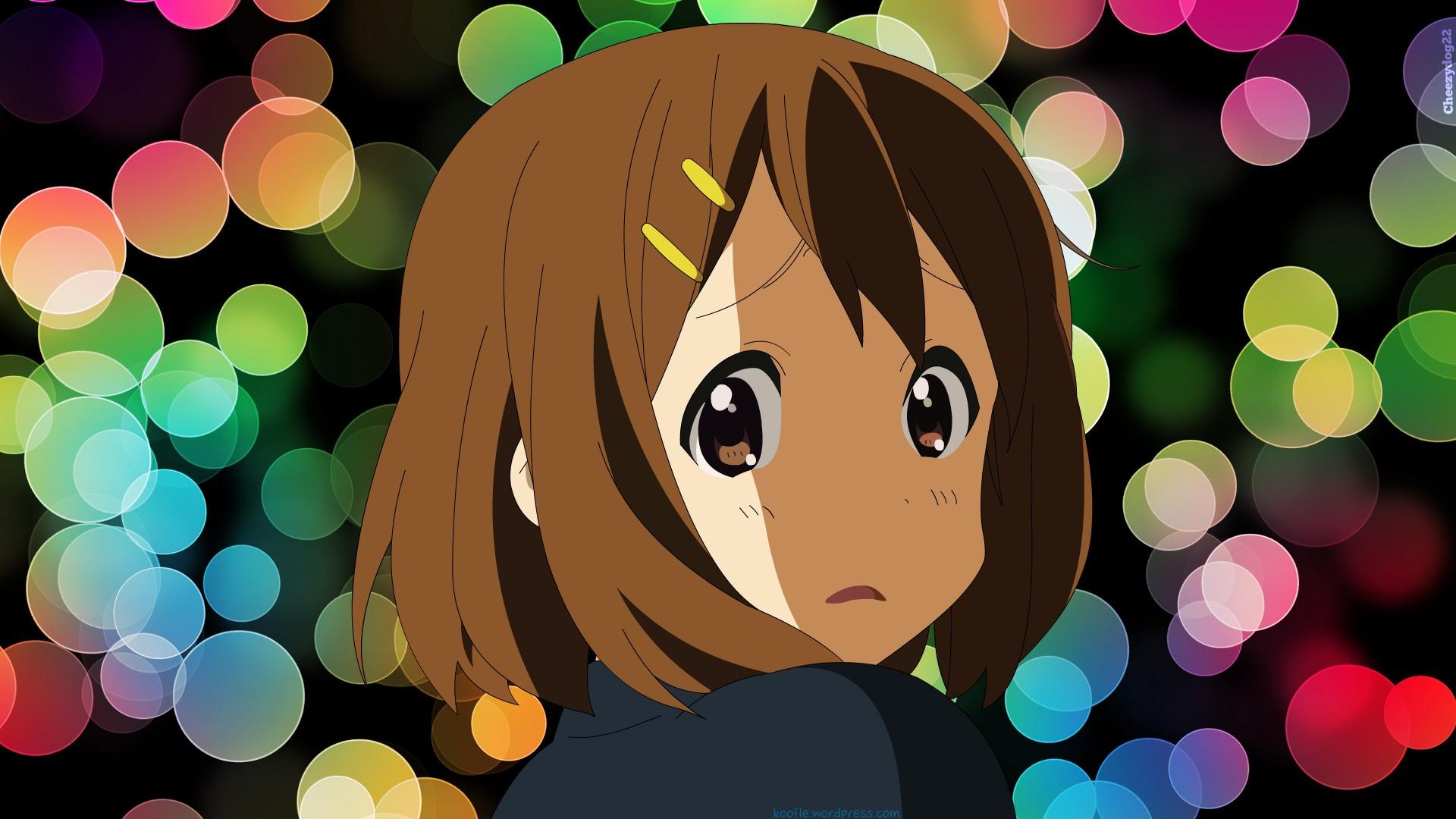 Anime 1920x1080 K-ON! Hirasawa Yui anime girls anime brunette