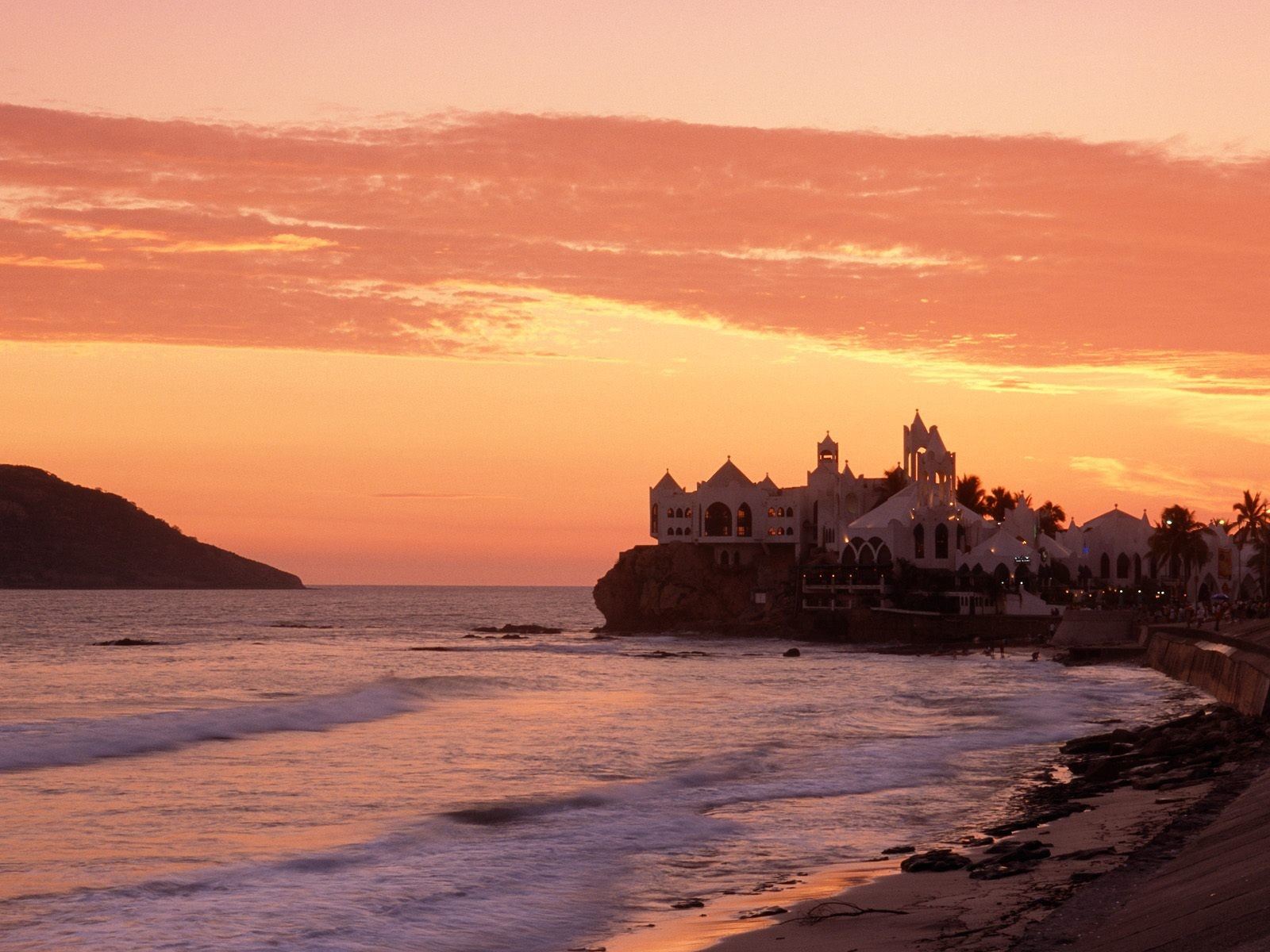 General 1600x1200 landscape Mexico resort coast dusk sunset skyscape