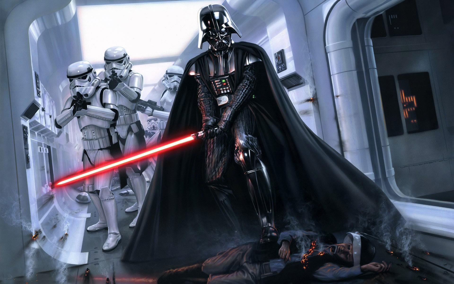 General 1920x1200 Darth Vader Star Wars lightsaber stormtrooper