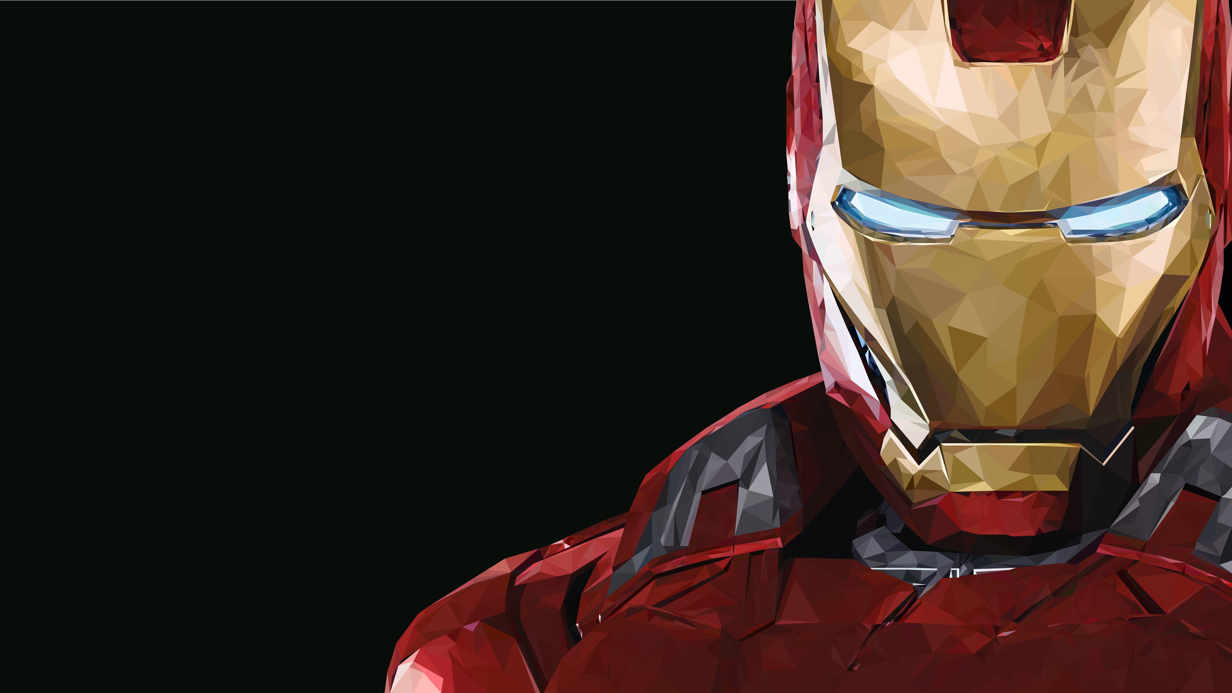General 5000x2813 Iron Man Marvel Comics artwork glowing eyes