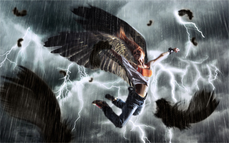 General 1440x900 angel rain storm women