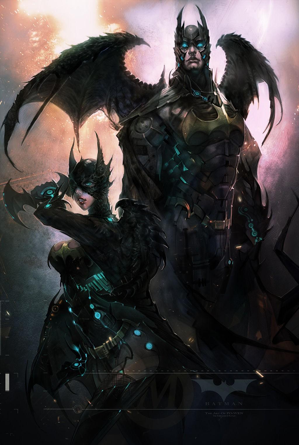 General 1024x1526 fantasy art wings Batgirl artwork