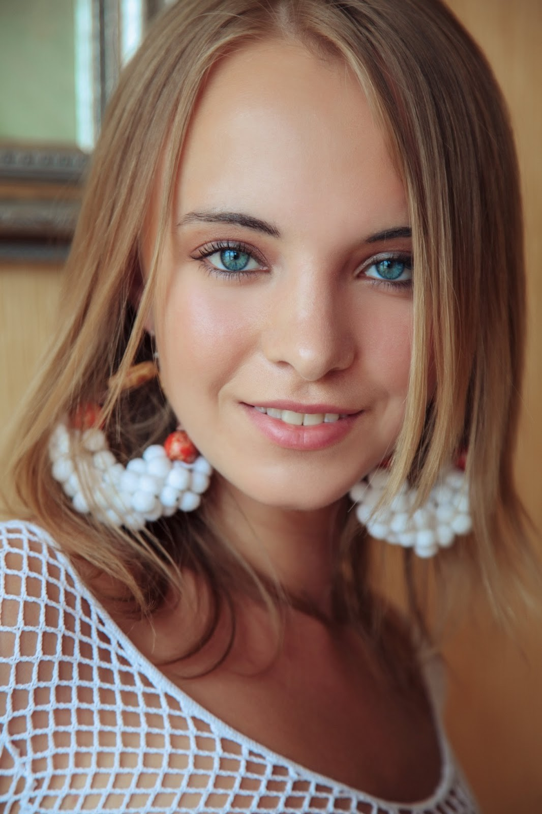 People 1066x1600 eyes face women Rachel Blau blonde blue eyes MetArt Magazine