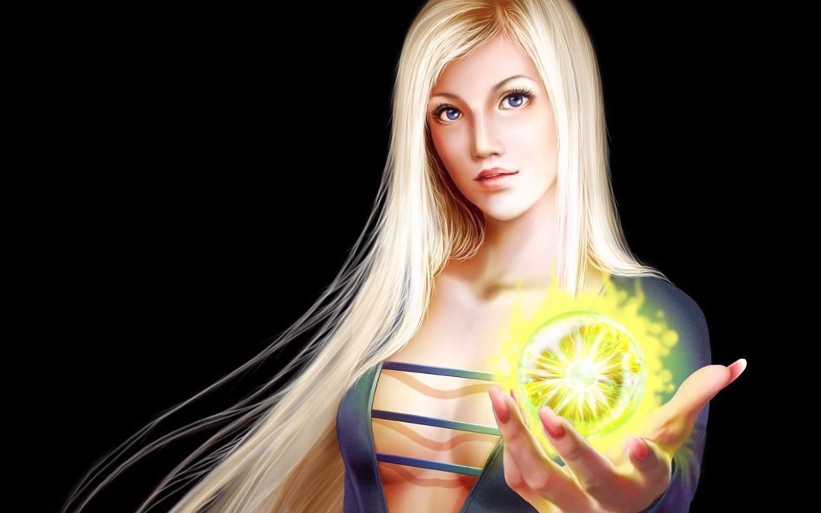 General 1680x1050 fantasy girl blonde long hair boobs simple background