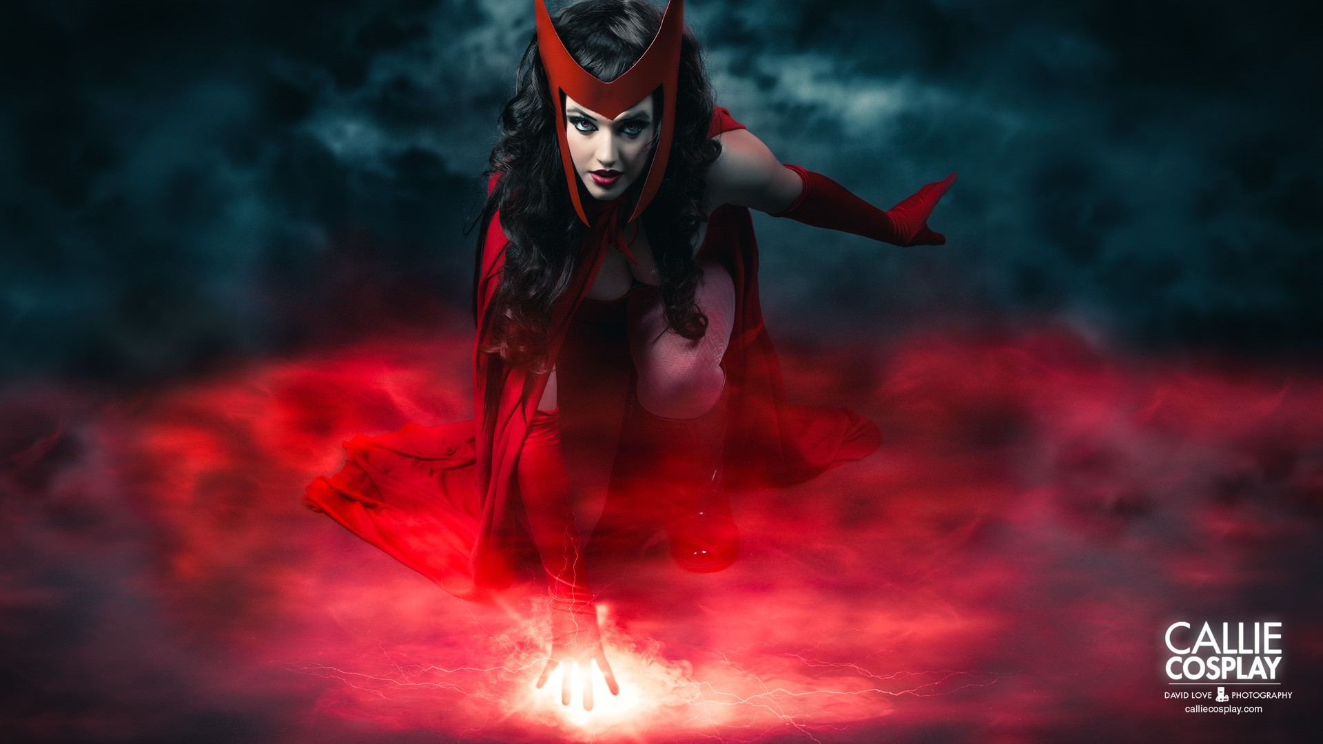General 1920x1080 cosplay Scarlet Witch Callie Cosplay women red