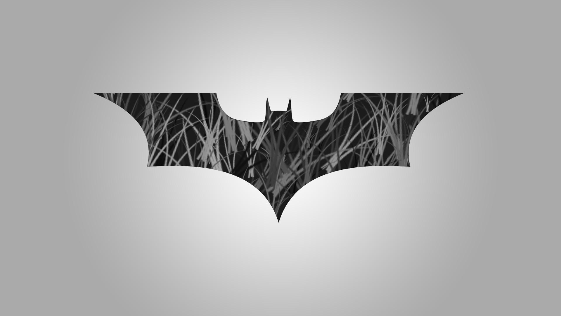 General 1920x1080 Batman logo minimalism monochrome