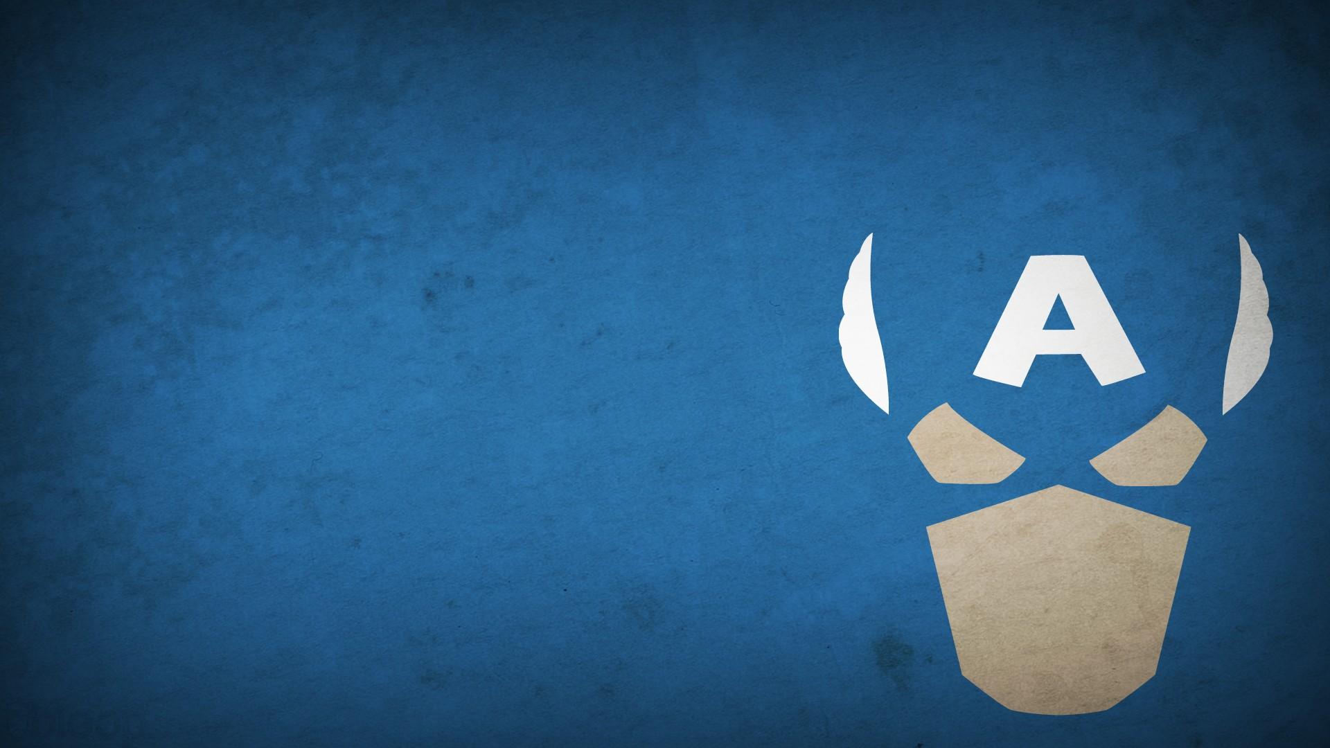 General 1920x1080 superhero Marvel Comics Marvel Heroes Captain America simple blue