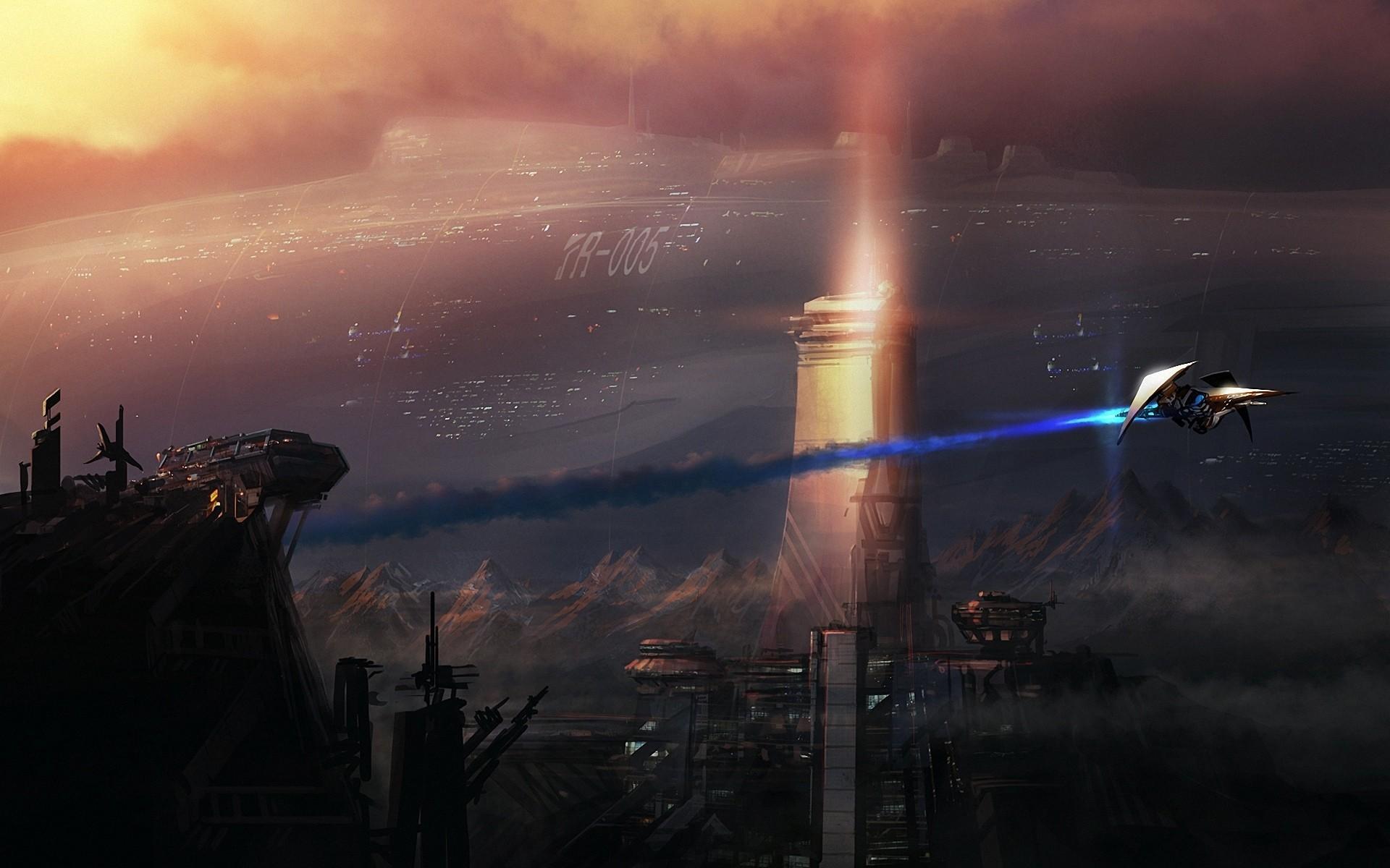 General 1920x1200 space spaceship science fiction digital art concept art fantasy art artwork city